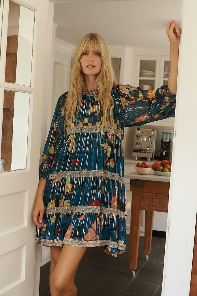 VERB BY PALLAVI SINGHEE Eulalia Shimmer Tunic Dress