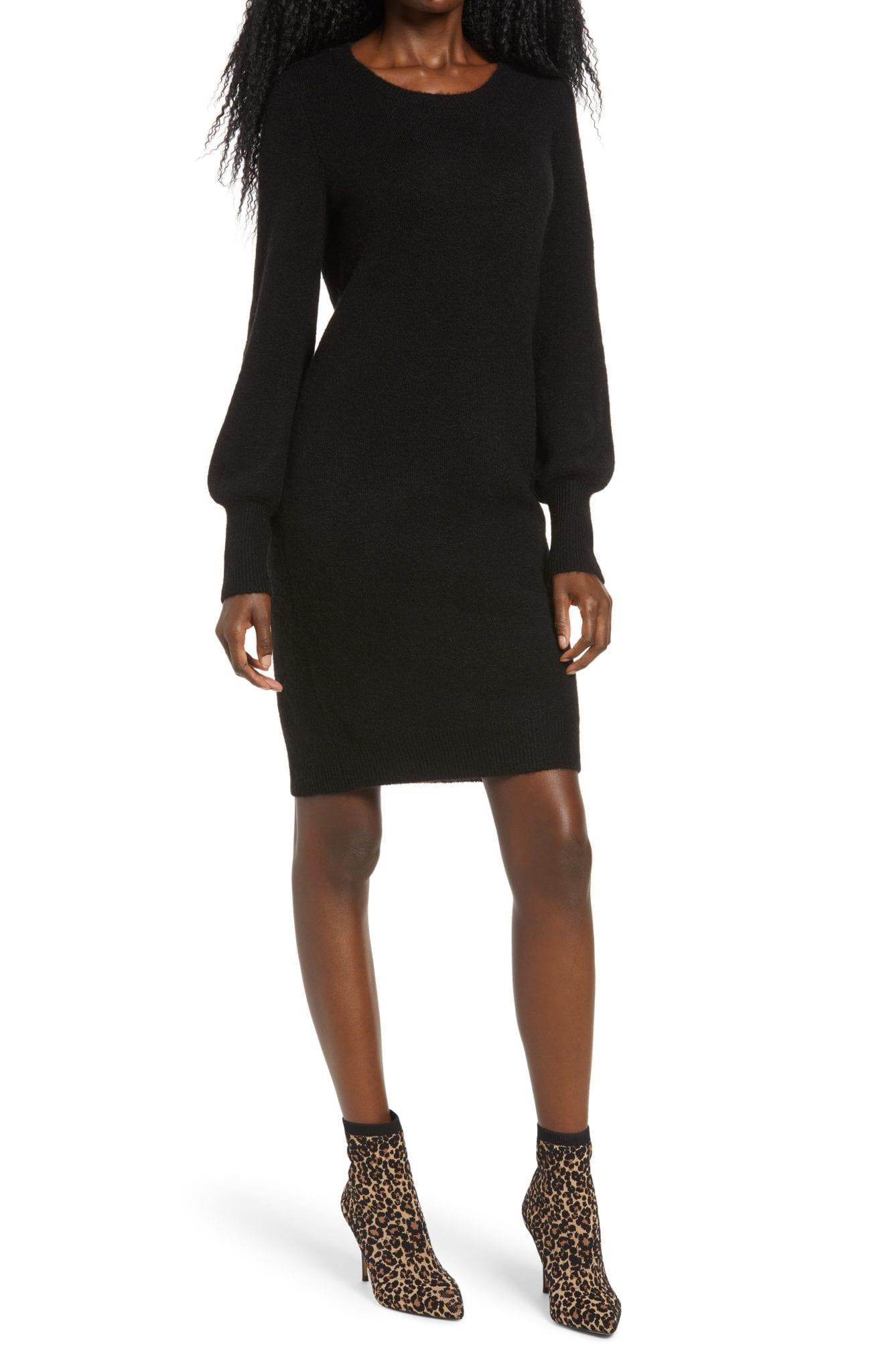 VERO MODA Simone Long Blouson Sleeve Sweater Dress