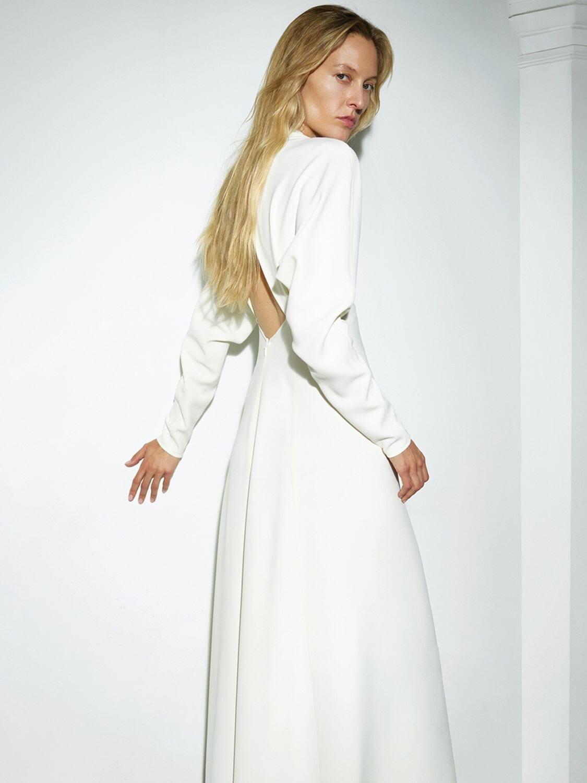 VICTORIA BECKHAM Fluid Cady Midi Dress