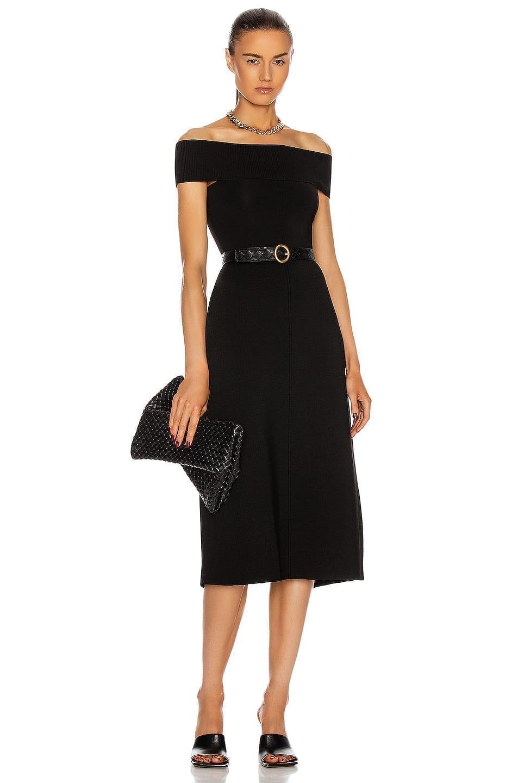 VICTORIA BECKHAM Off The Shoulder Midi Dress