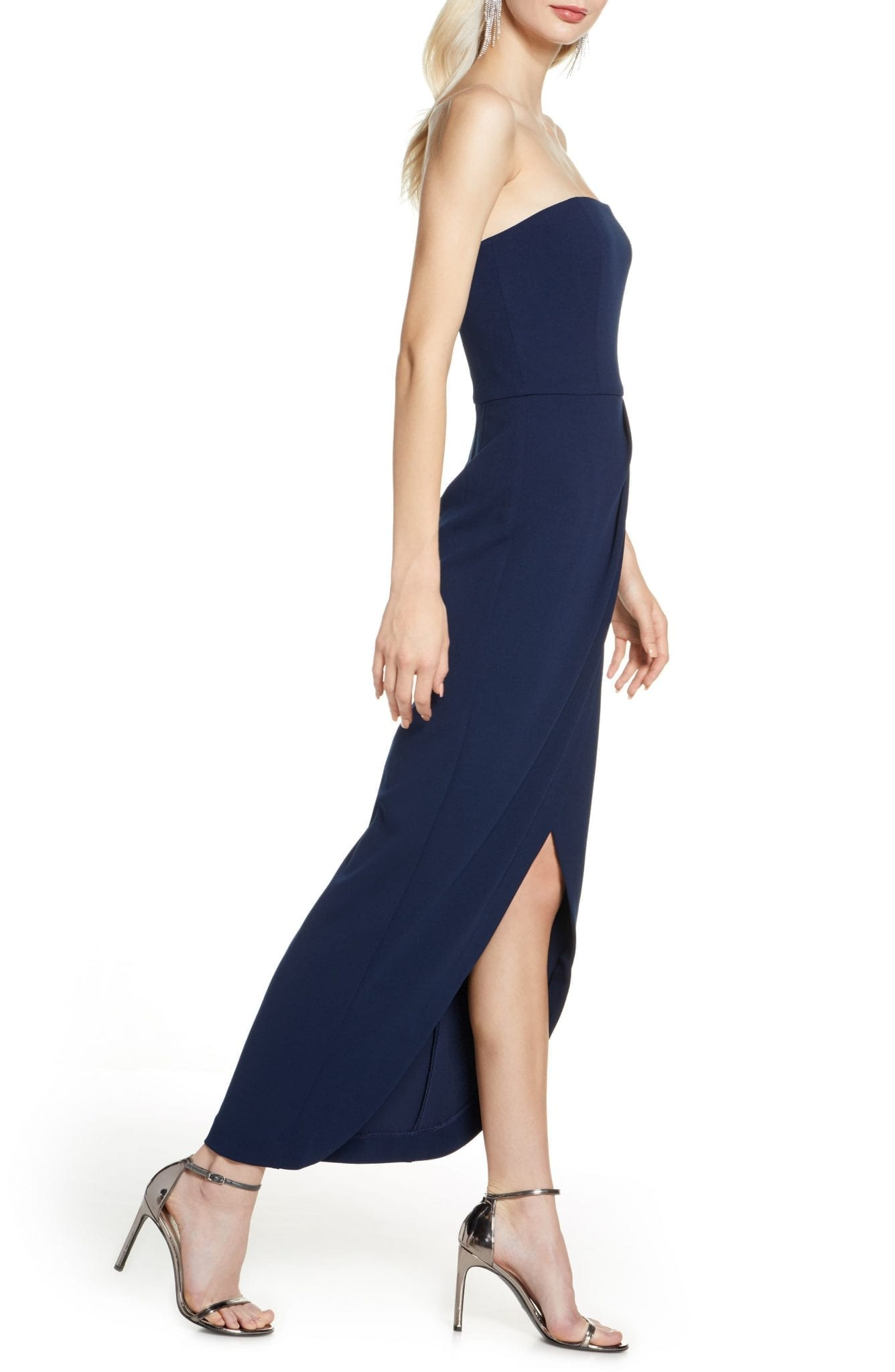 WAYF The Angelique Strapless Tulip Gown
