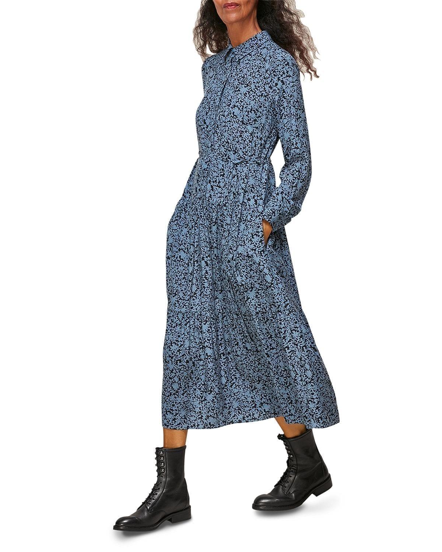 WHISTLES Eucalyptus Print Dress