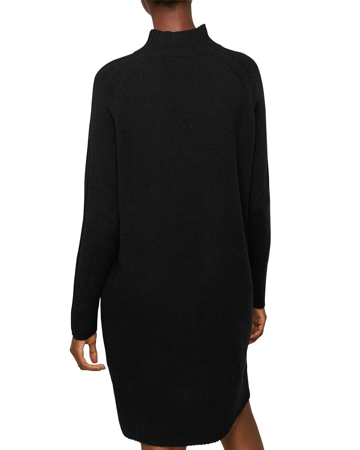 WHISTLES Funnel Neck Wool Knit Dress