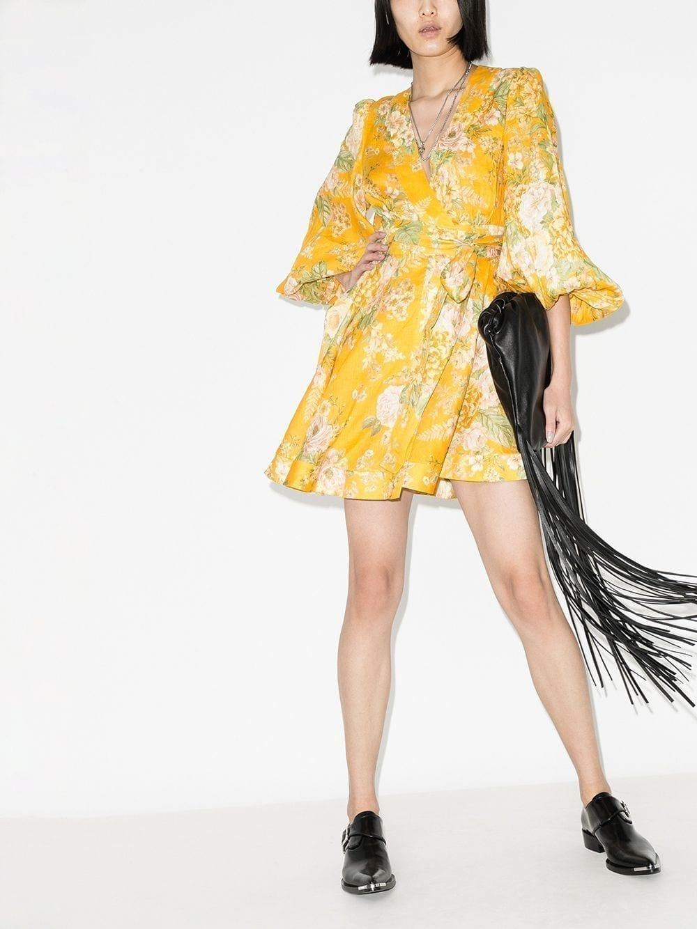 ZIMMERMANN Amelie Floral Print Mini Dress