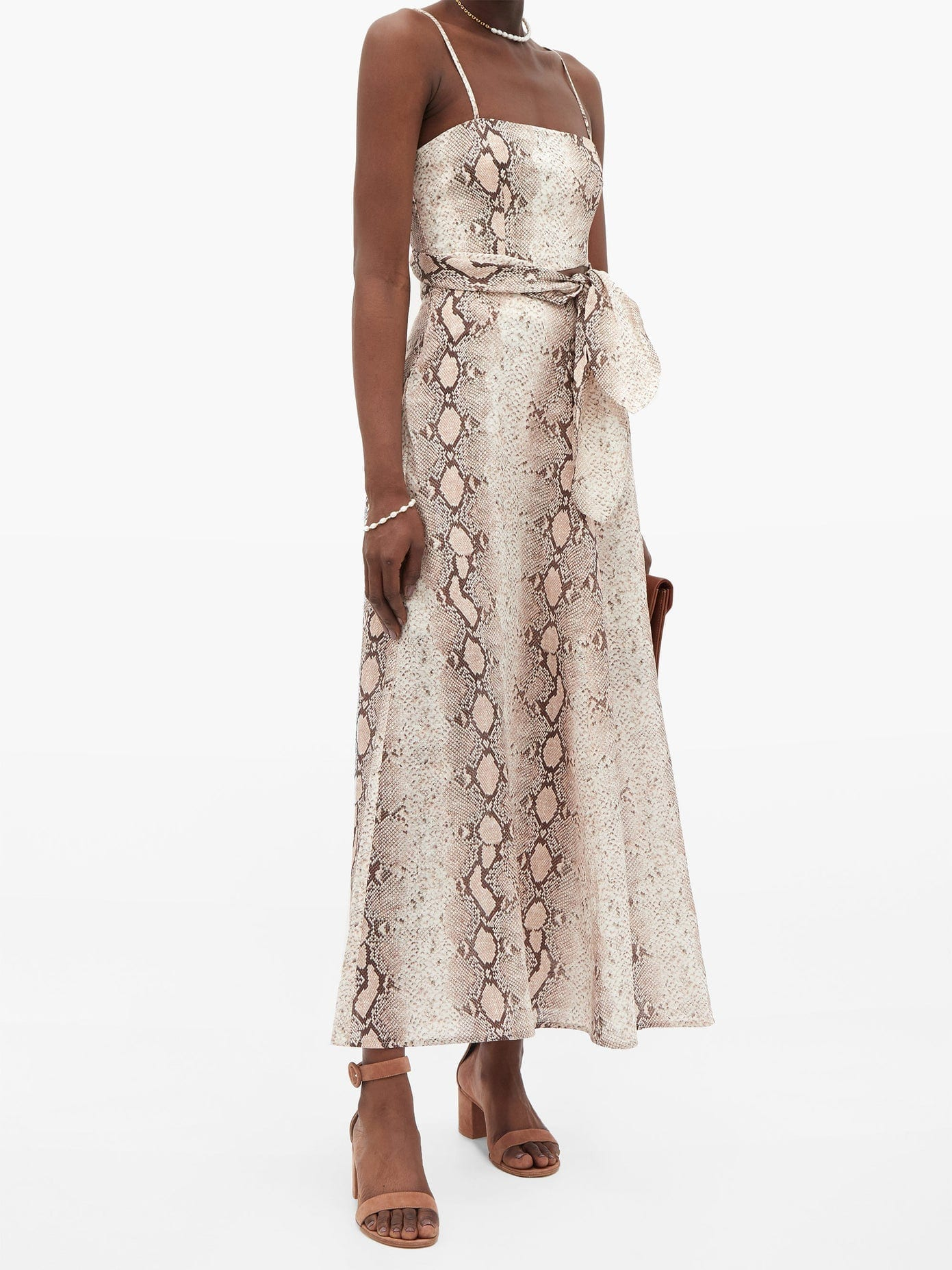 ZIMMERMANN Bellitude Python-print Linen Dress