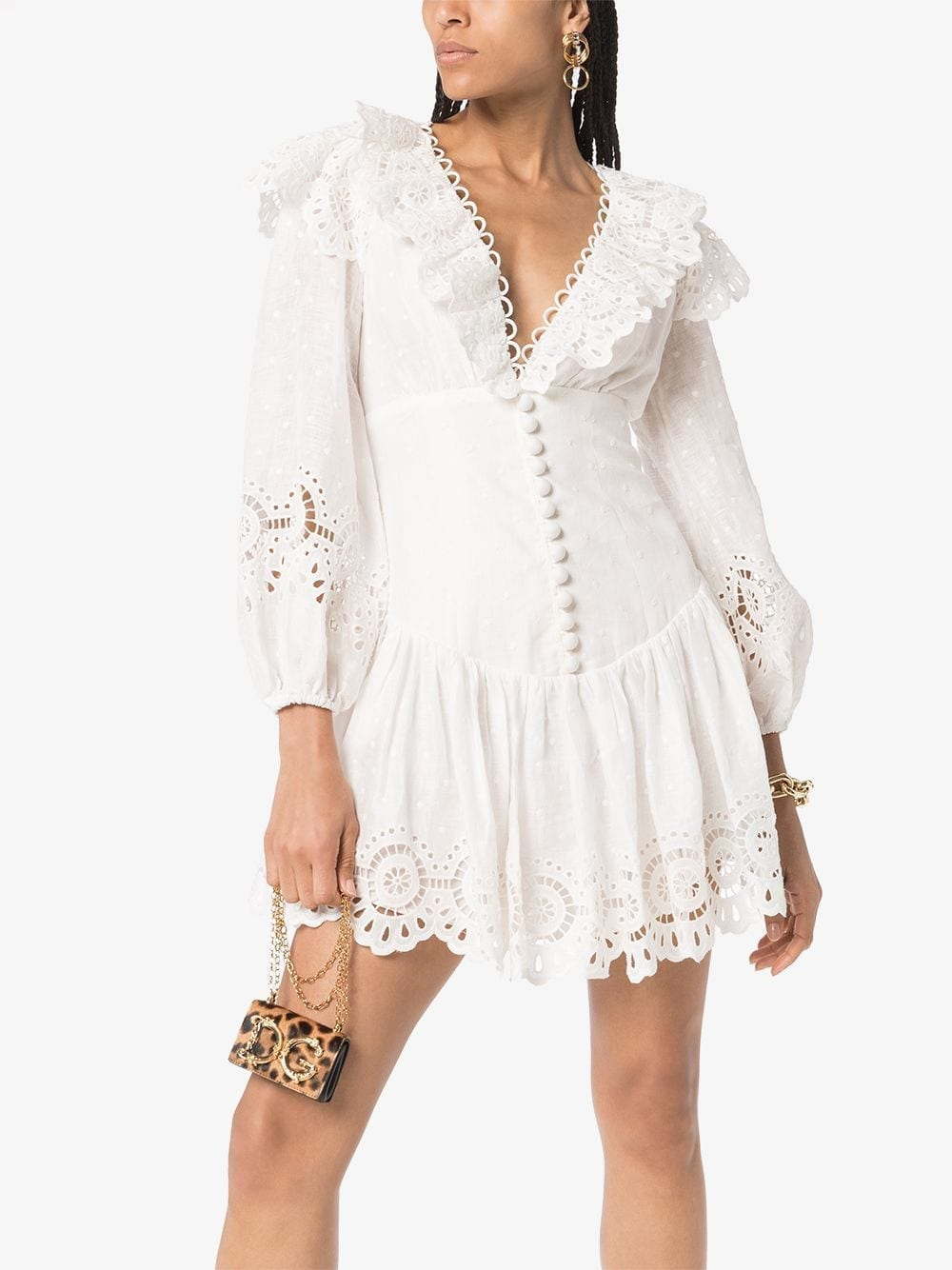 ZIMMERMANN Bellitude Scalloped Lace Mini Dress