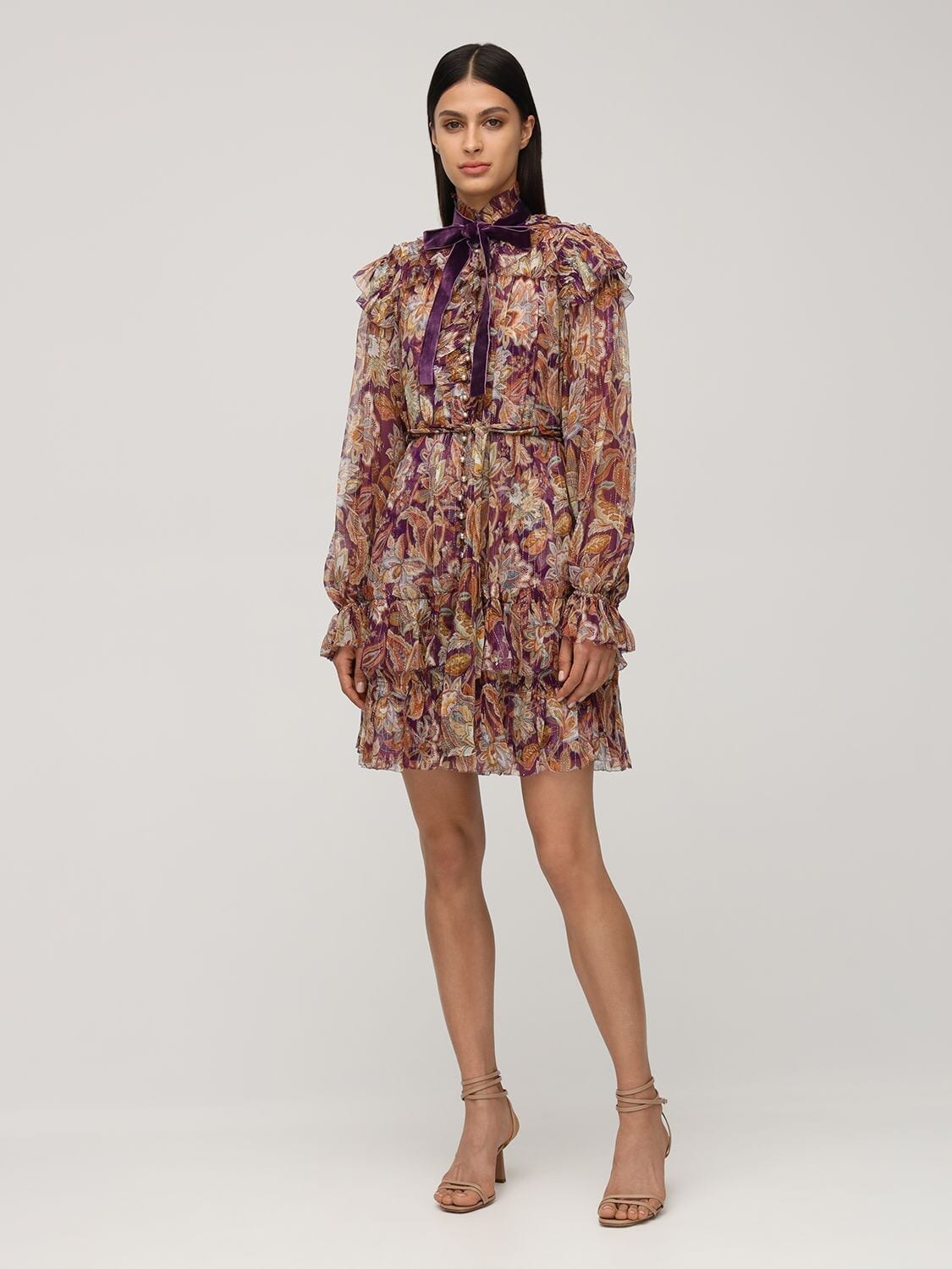 ZIMMERMANN Ladybeetle Ruffled Silk Mini Dress