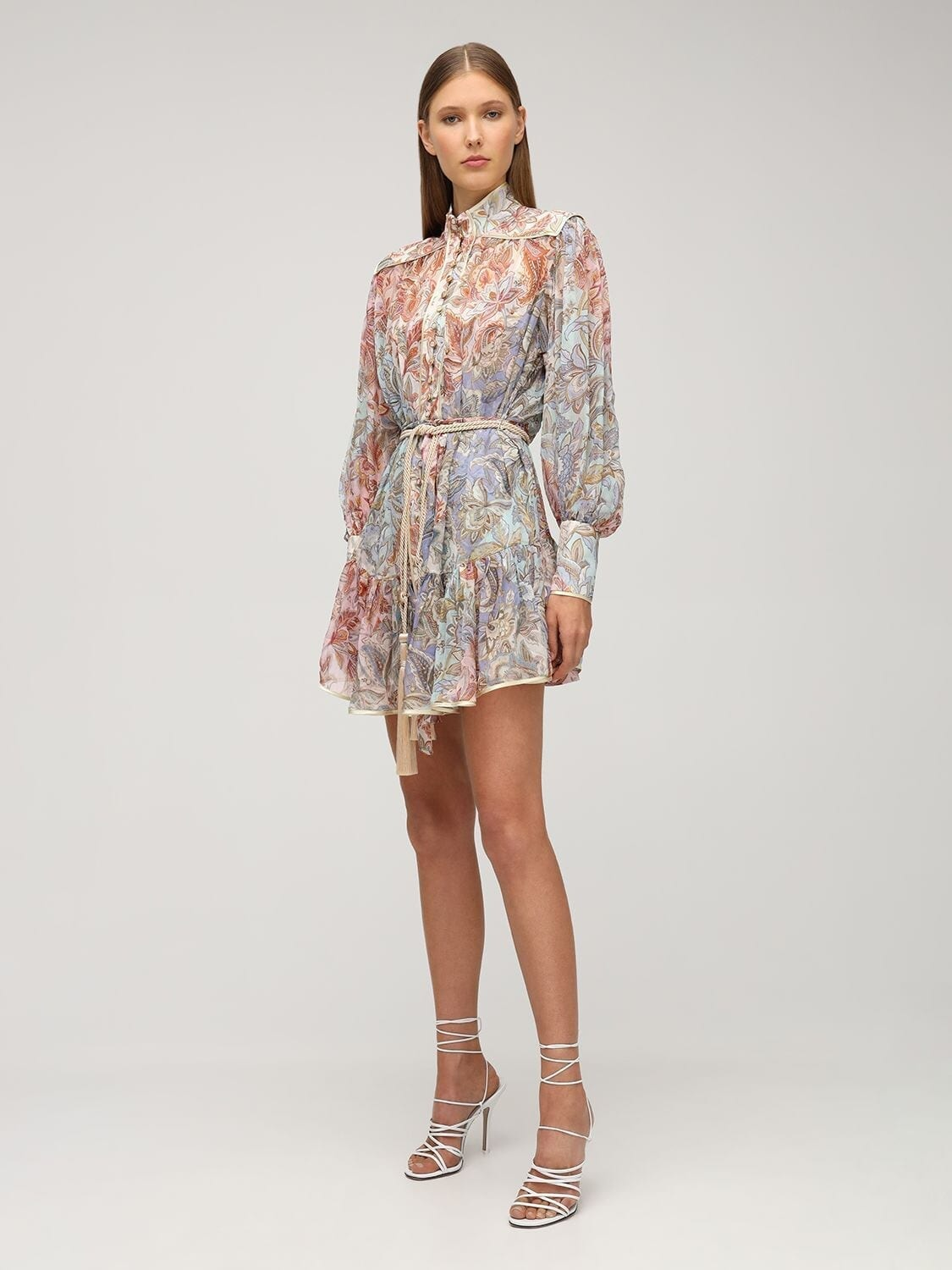 ZIMMERMANN Lucky Bound Silk Chiffon Mini Dress