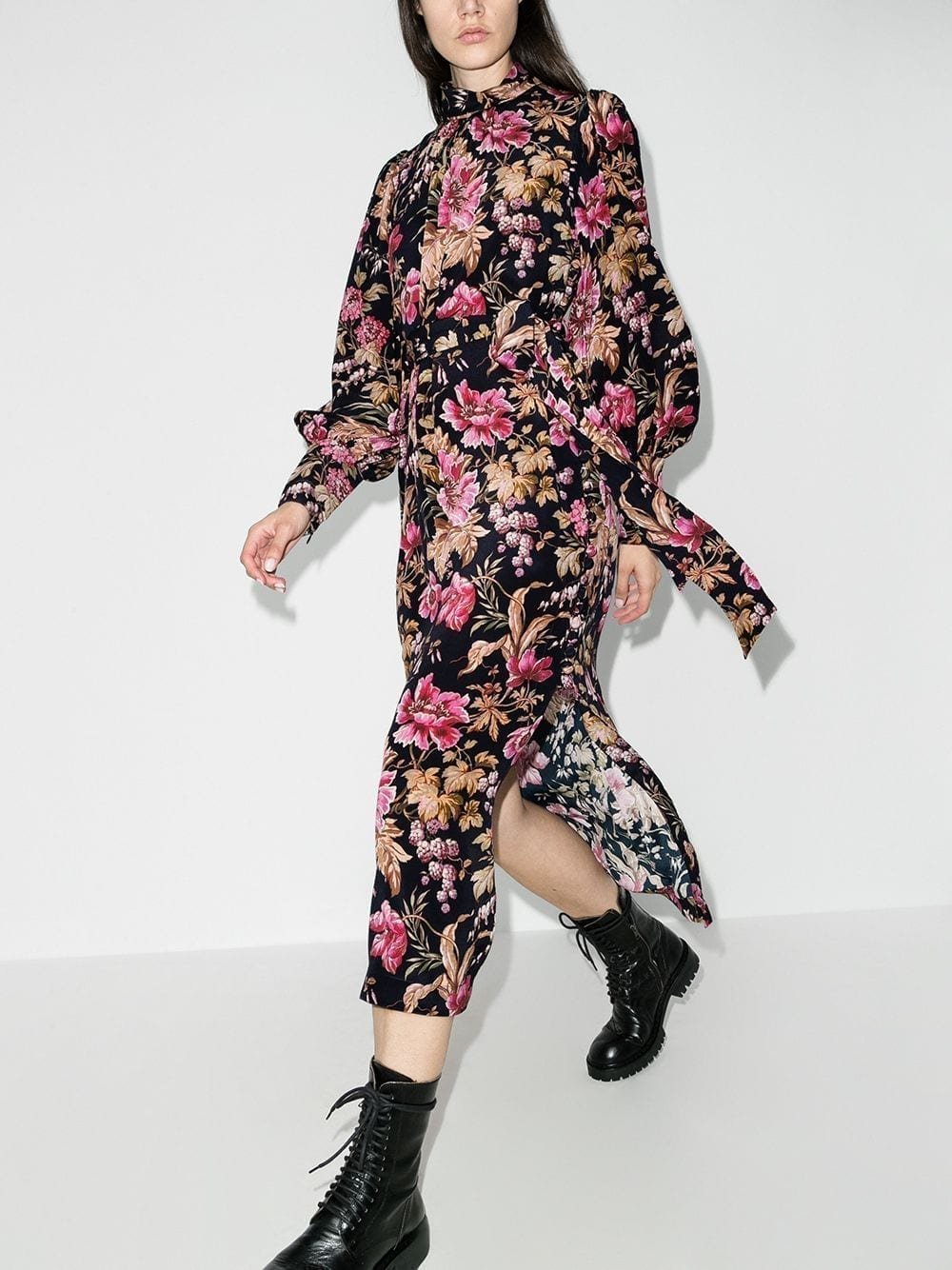 ZIMMERMANN Lucky Floral-print Midi Dress