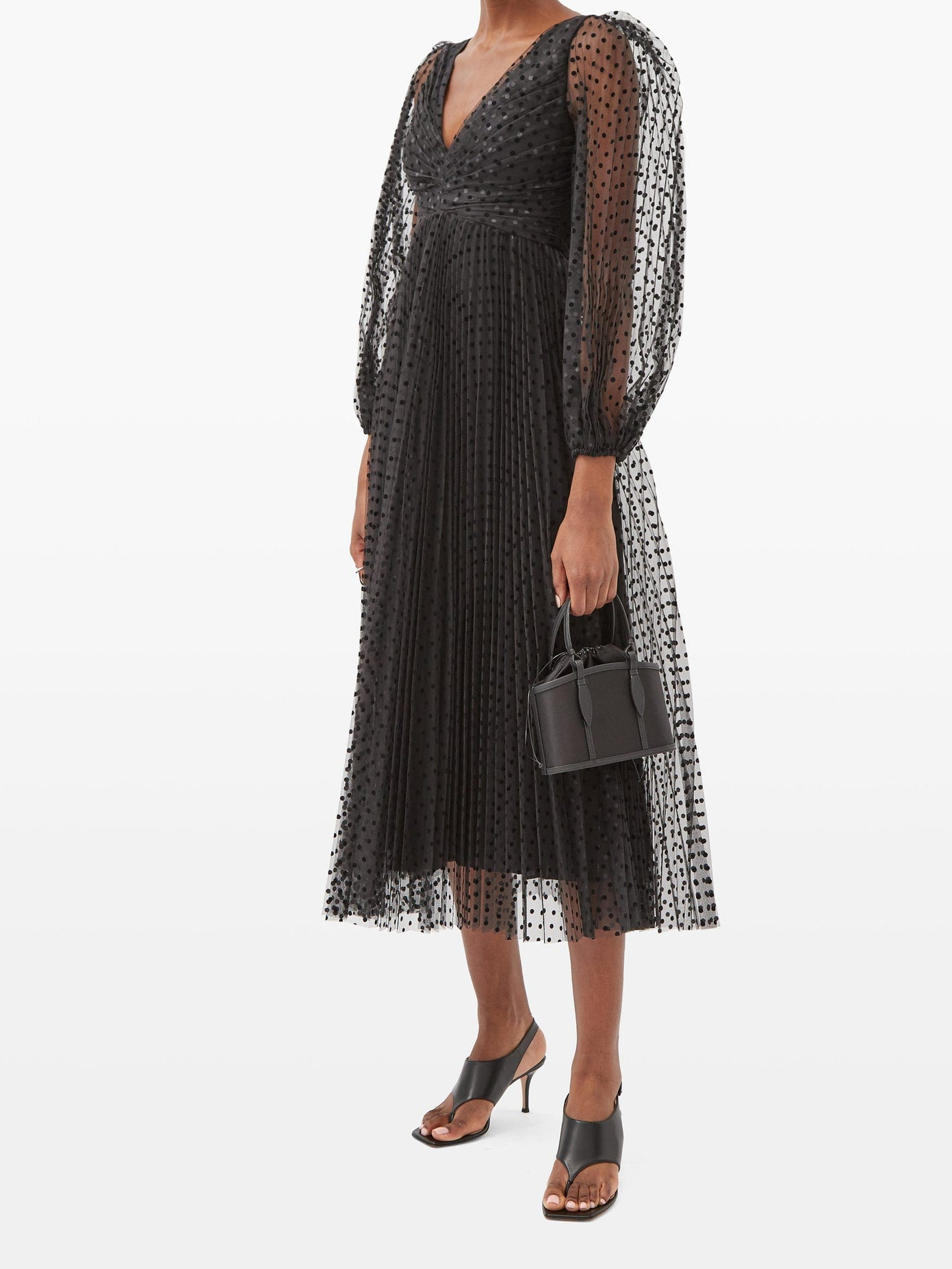 ZIMMERMANN Lucky Polka-dot Midi Dress