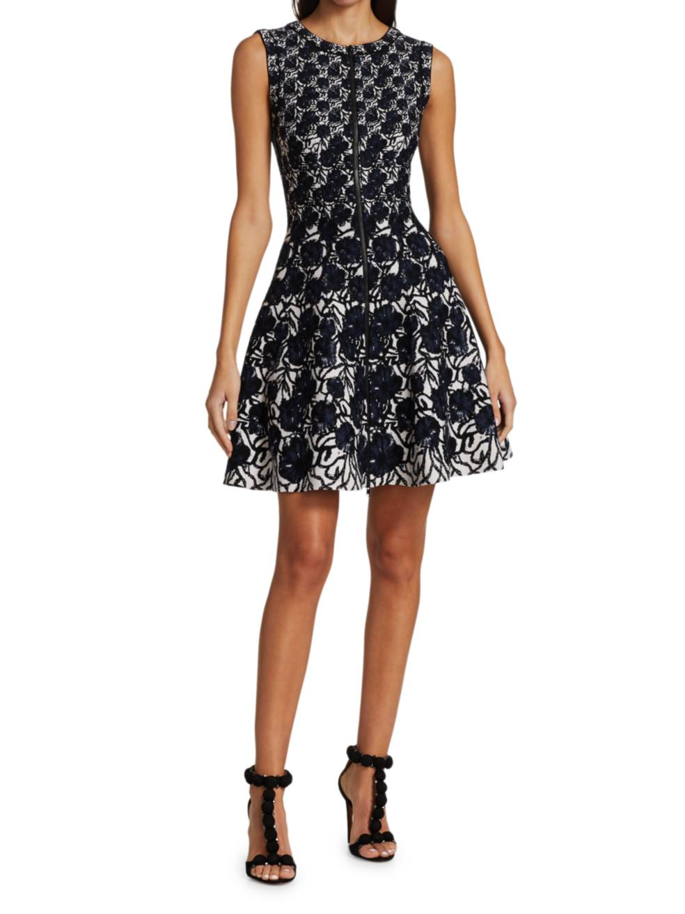 ALAÏA Fit-&-Flare Zip Front Dress