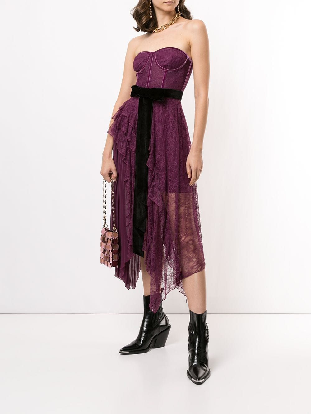 ALICE+OLIVIA Bree Bustier Maxi Dress