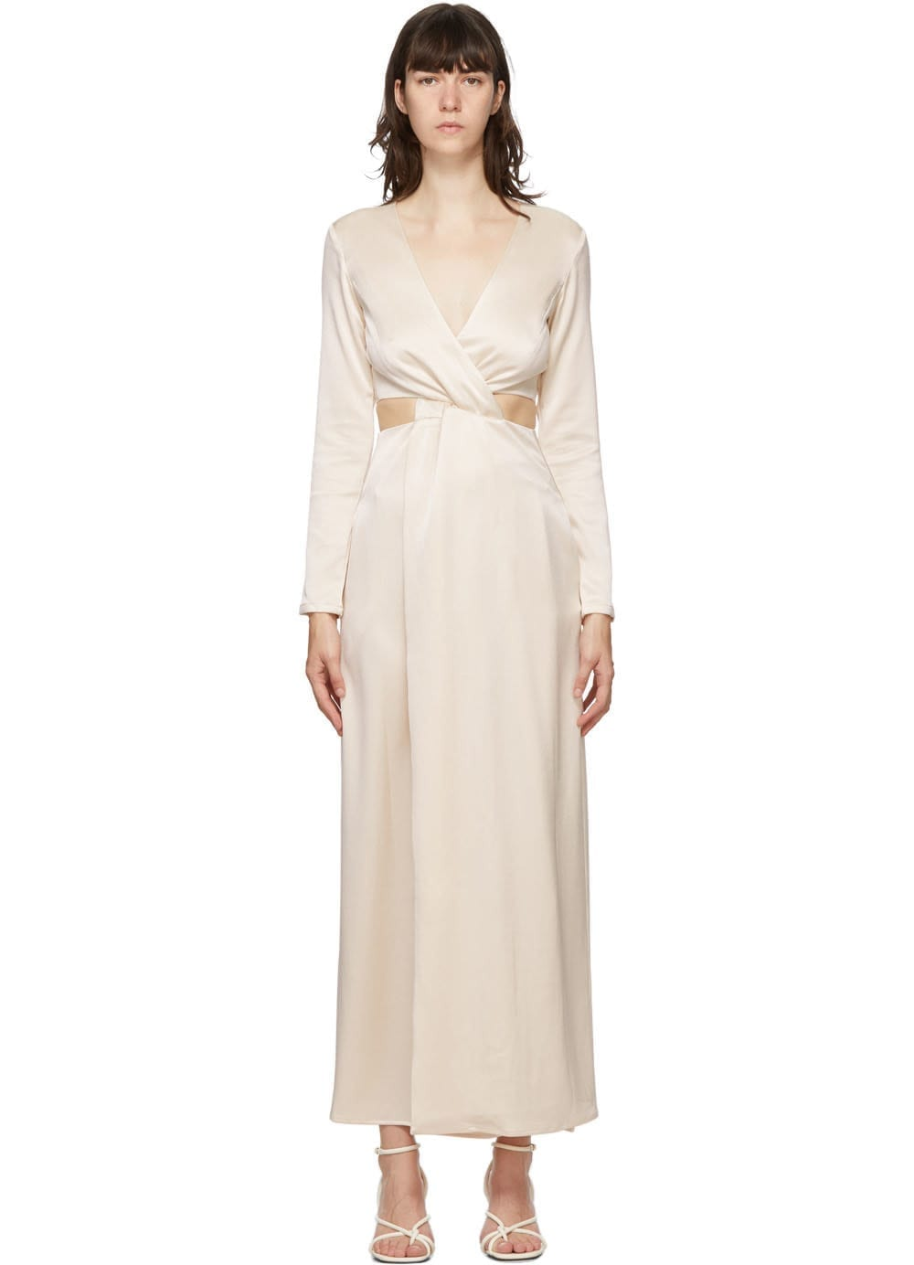 ANNA QUAN Beige Elena Dress