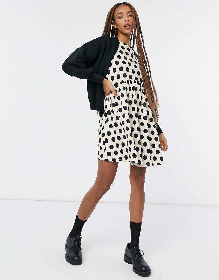 ASOS DESIGN Mini Short Puff Sleeve Mini Dress