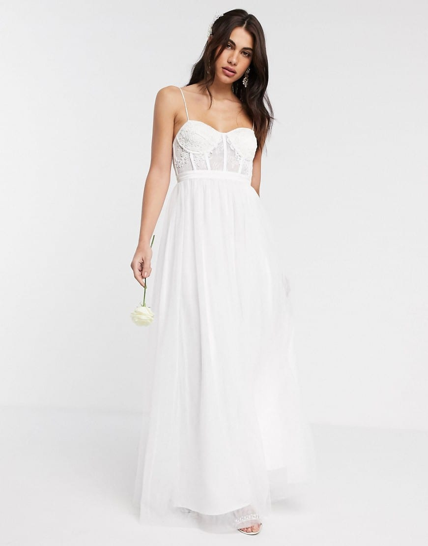 ASOS EDITION Louisa Lace Corset Wedding Dress