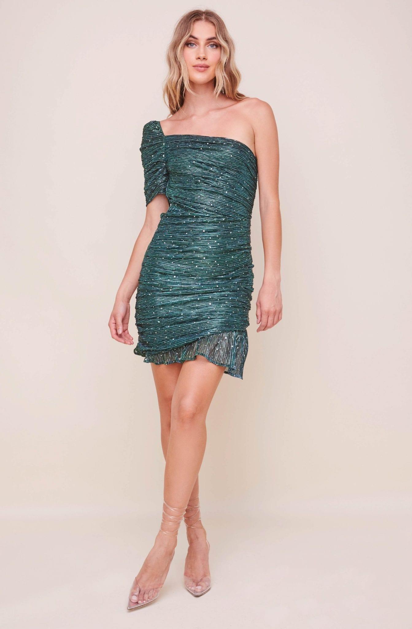 ASTRTHELABEL Ally One Shoulder Mini Dress