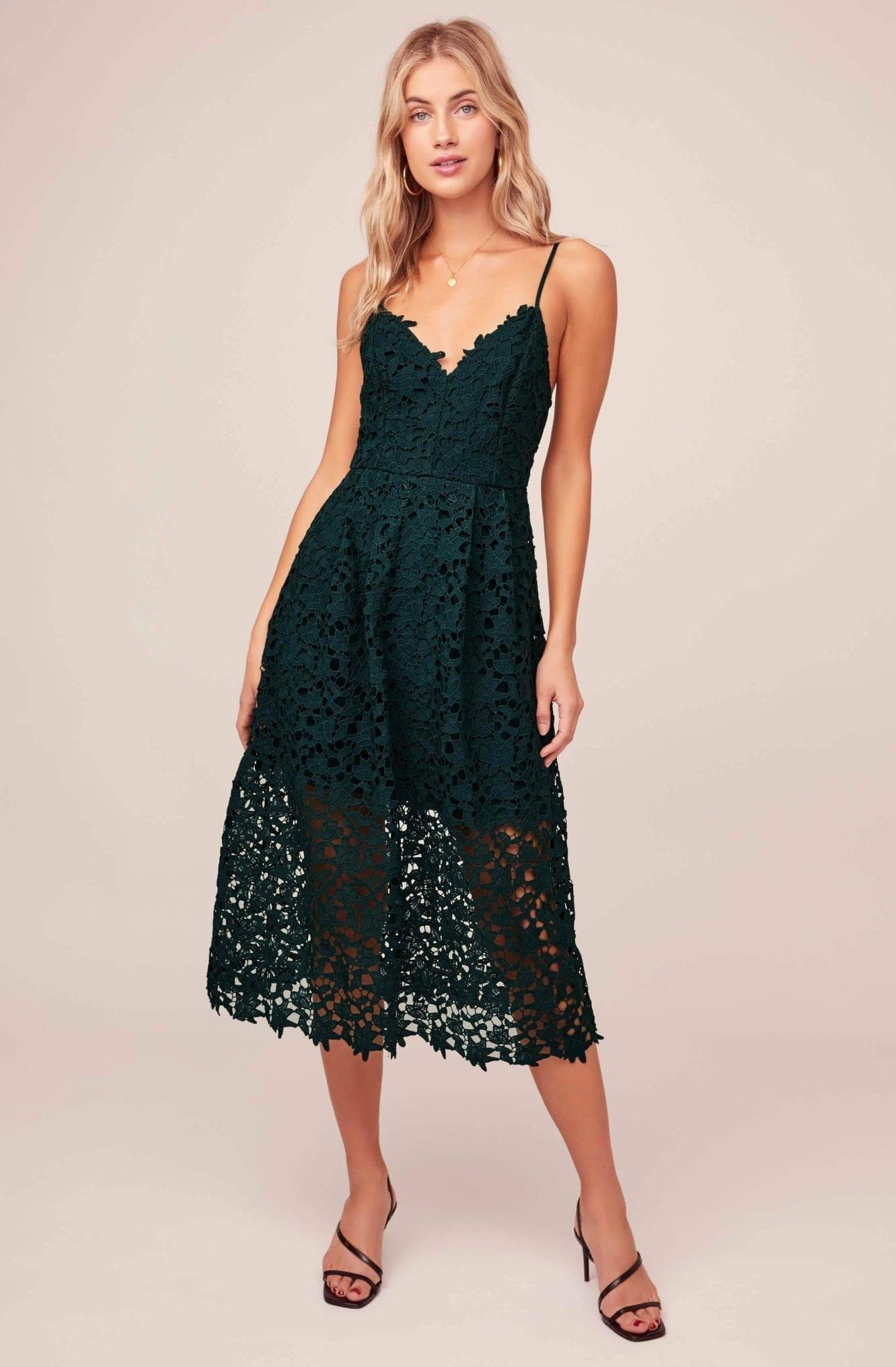 ASTRTHELABEL Lace A Line Midi Dress
