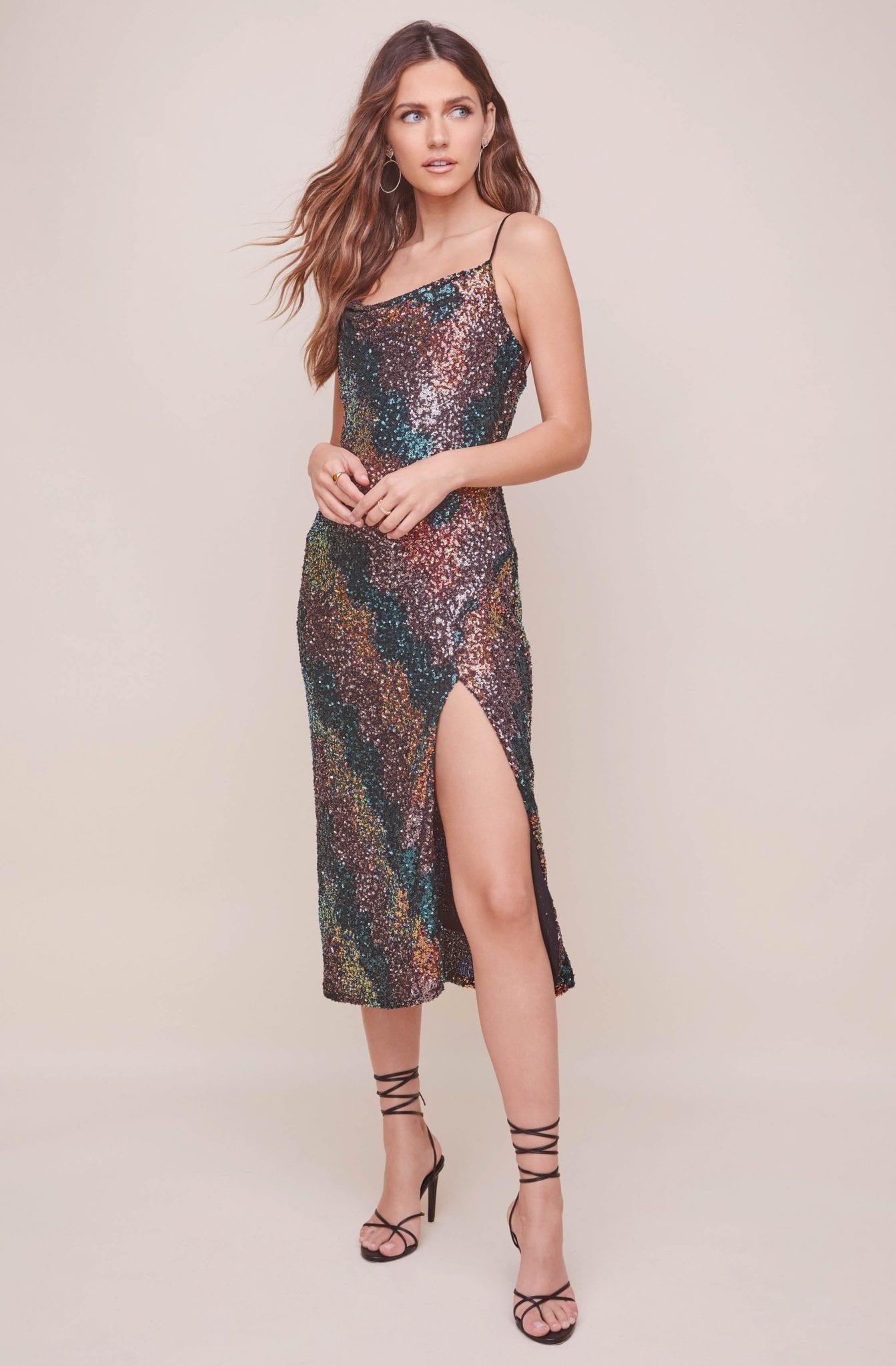 ASTRTHELABEL Magic Moment Sequin Midi Dress