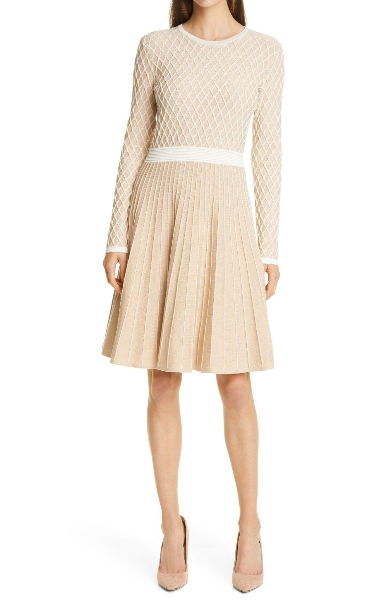BOSS Fedressy Long Sleeve Sweater Dress