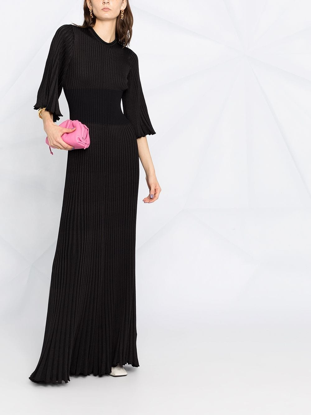 BOTTEGA VENETA Ribbed-knit Maxi Dress