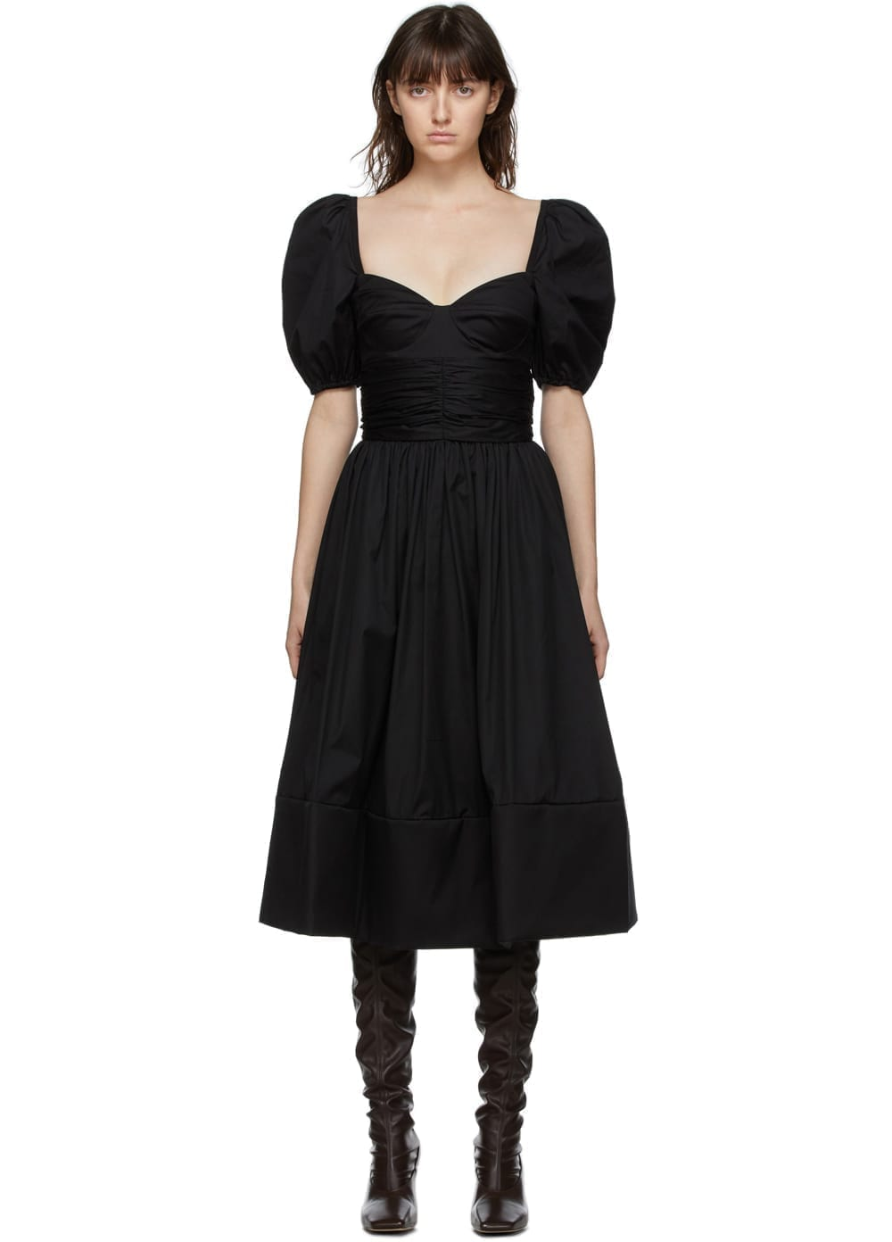 BROCK COLLECTION Black Rosette Dress