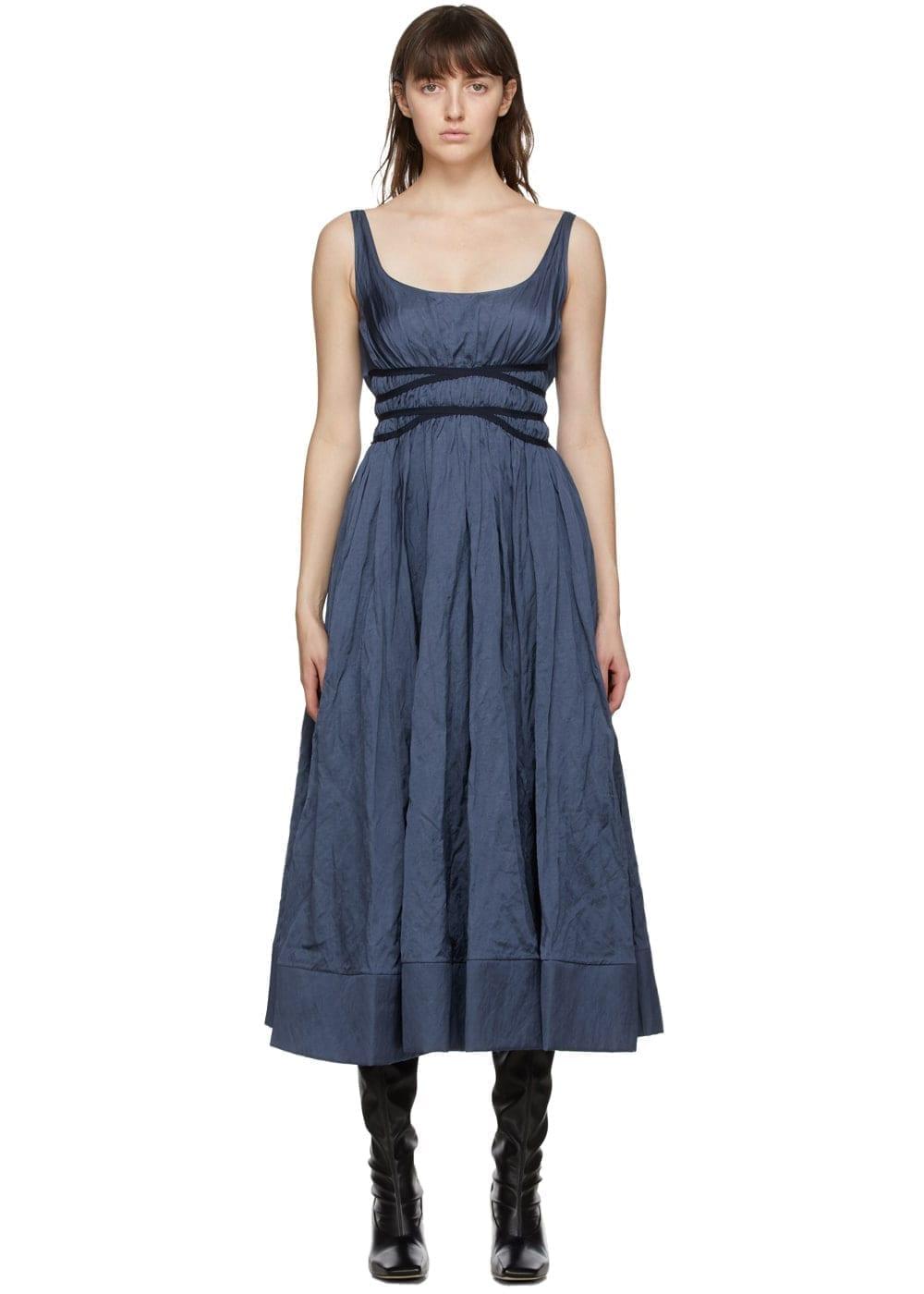 BROCK COLLECTION Blue Rosemond Dress