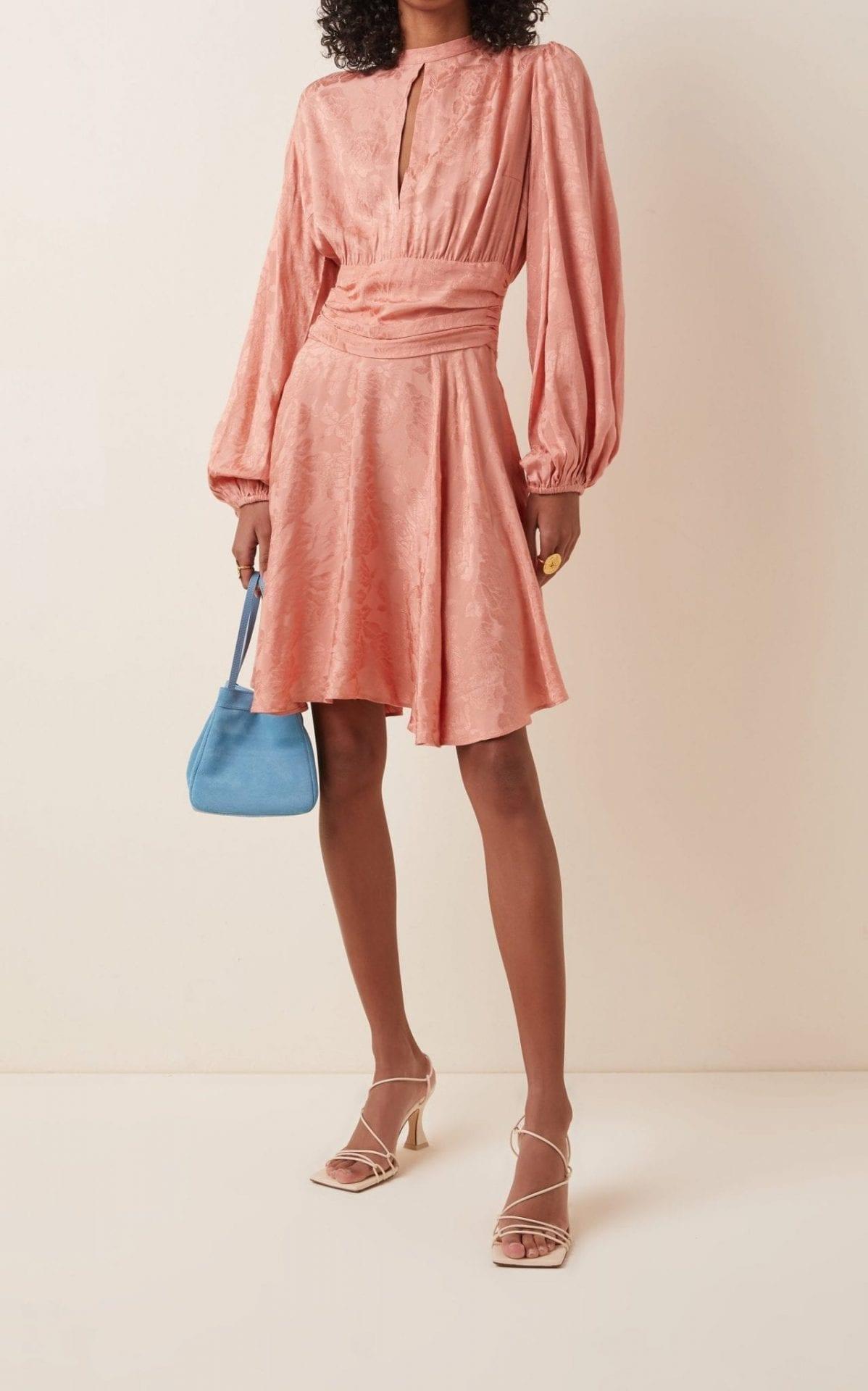 BYTIMO Floral-Jacquard Mini Dress