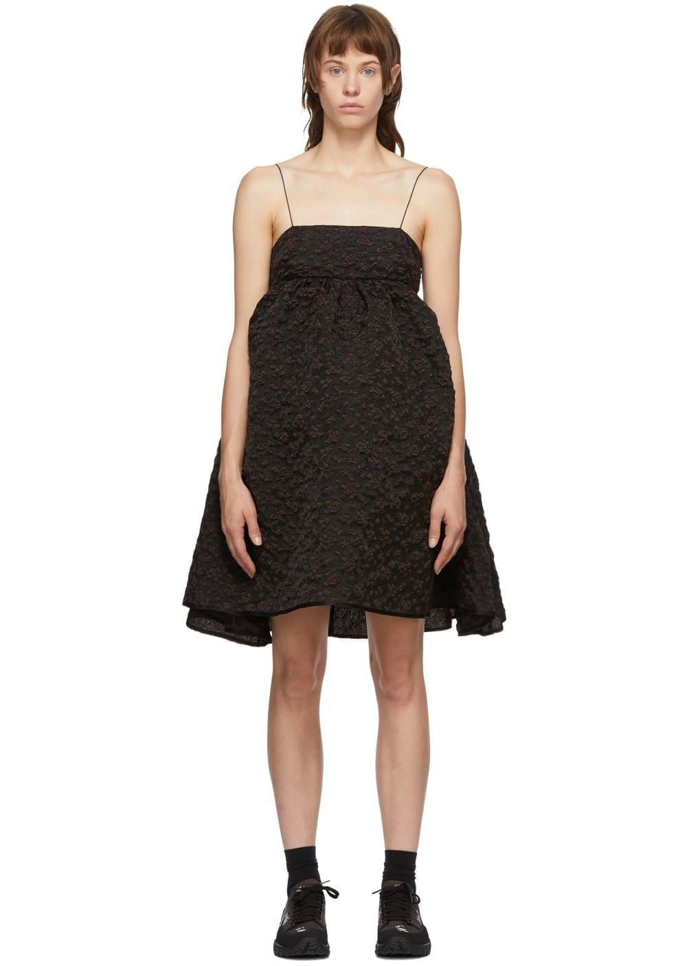 CECILIE BAHNSEN Brown Lisbeth Bandeau Dress