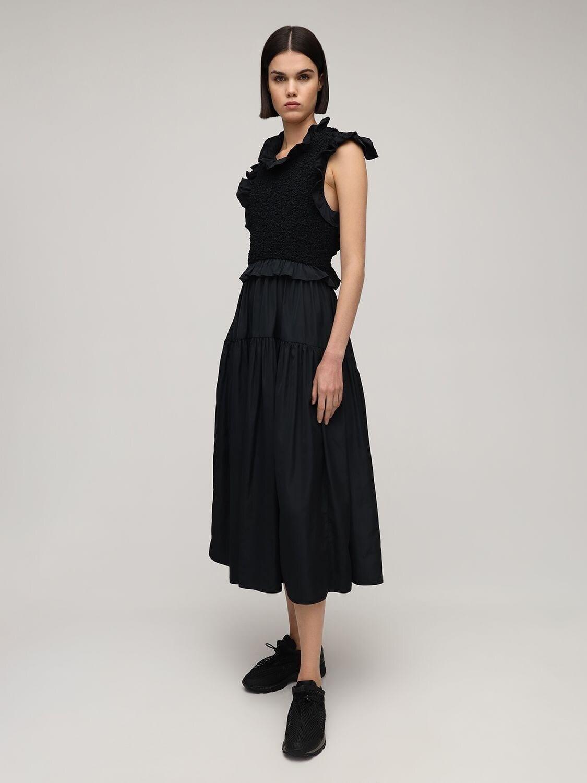 CECILIE BAHNSEN Ruffled Midi Dress