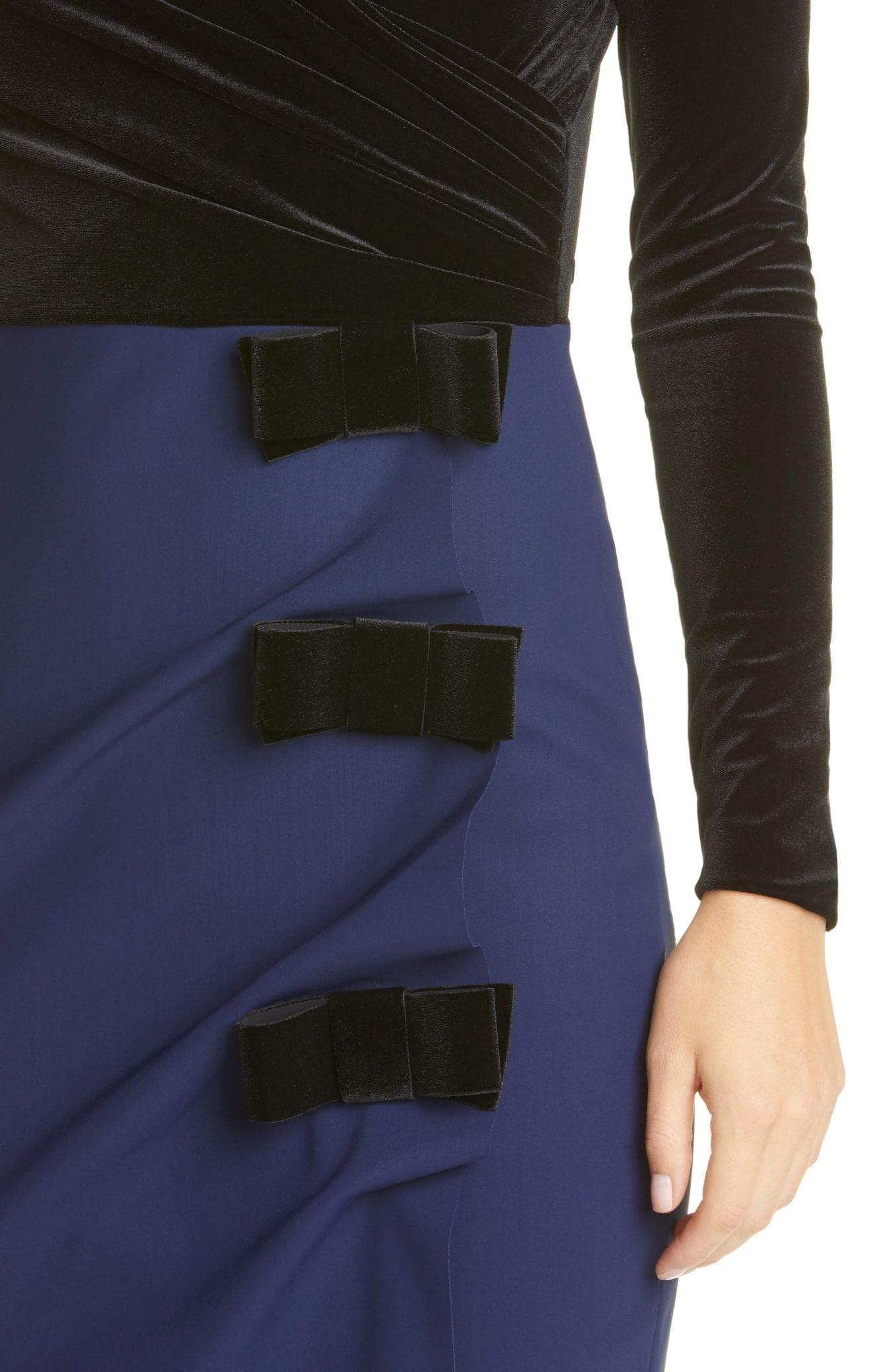 CHIARA BONI LA PETITE ROBE Faux Wrap Long Sleeve Cocktail Dress