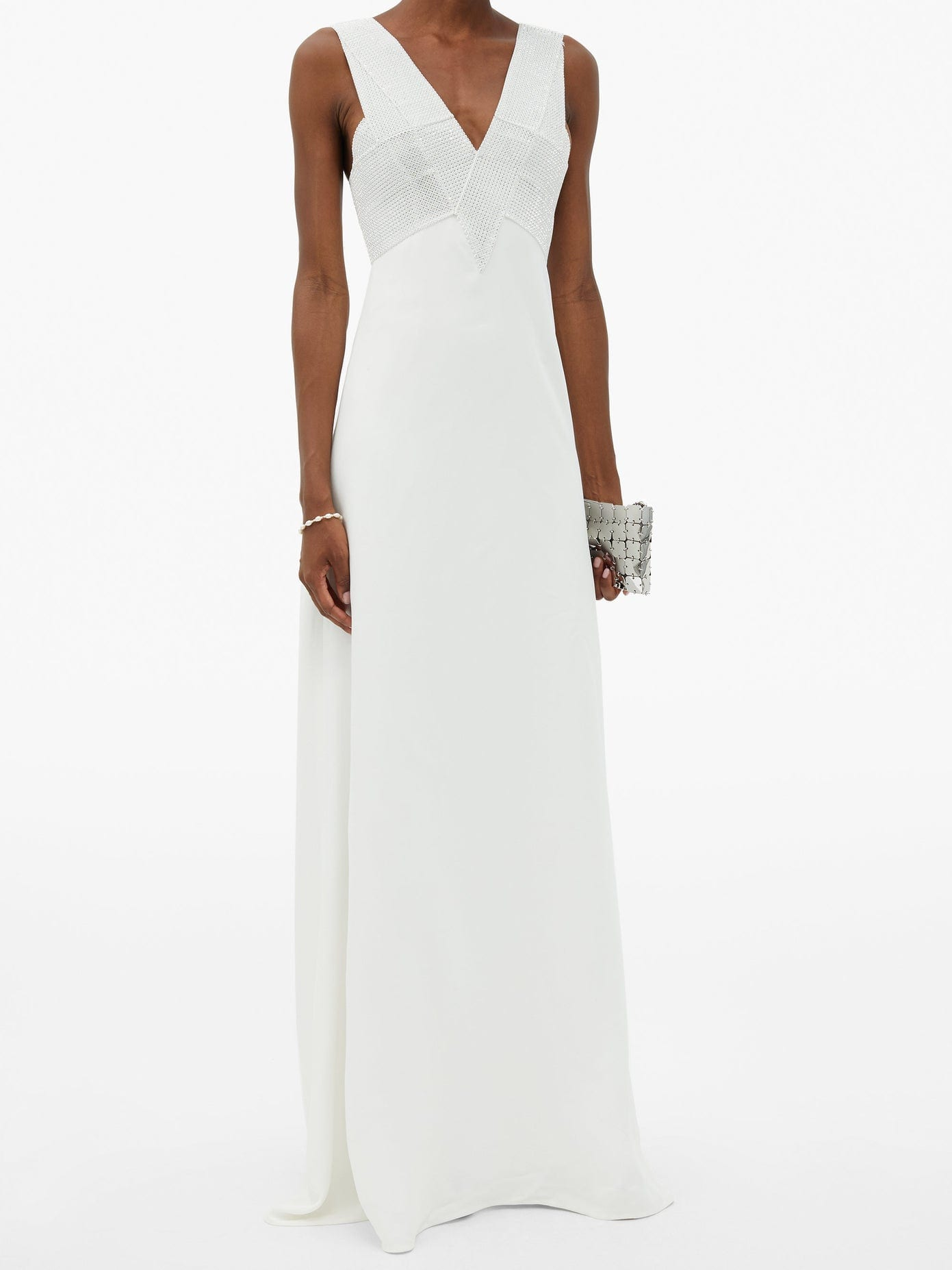 CHRISTOPHER KANE Crystal-embellished Crepe Gown