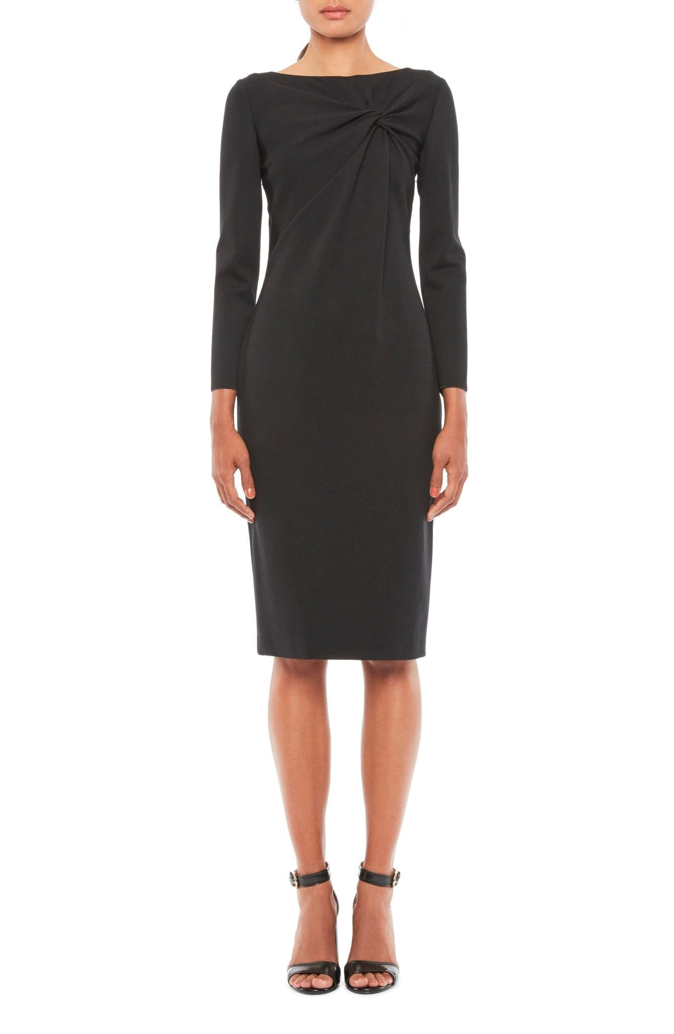 EMPORIO ARMANI Twist Front Long Sleeve Jersey Dress