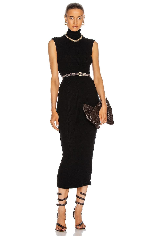 ENZA COSTA Sweater Knit Sleeveless Turtleneck Dress