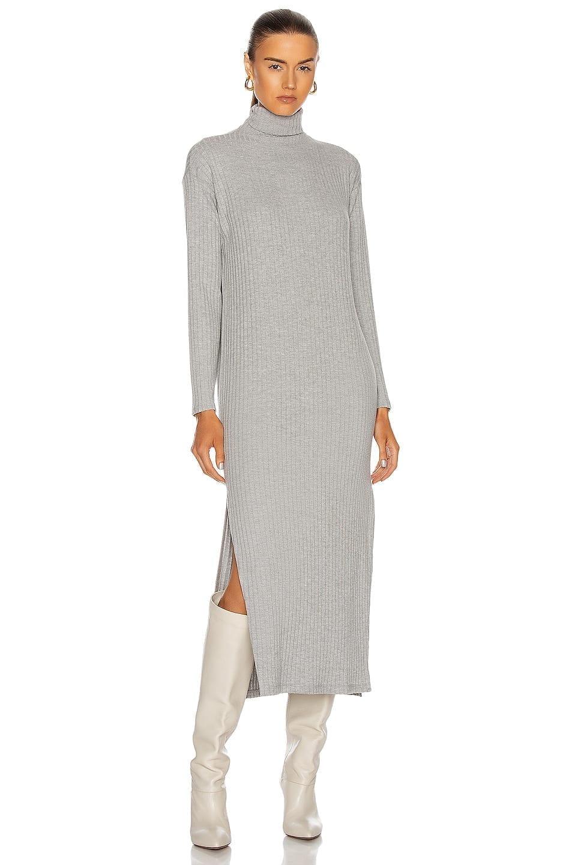 ENZA COSTA Sweater Rib Turtleneck Sheath Dress