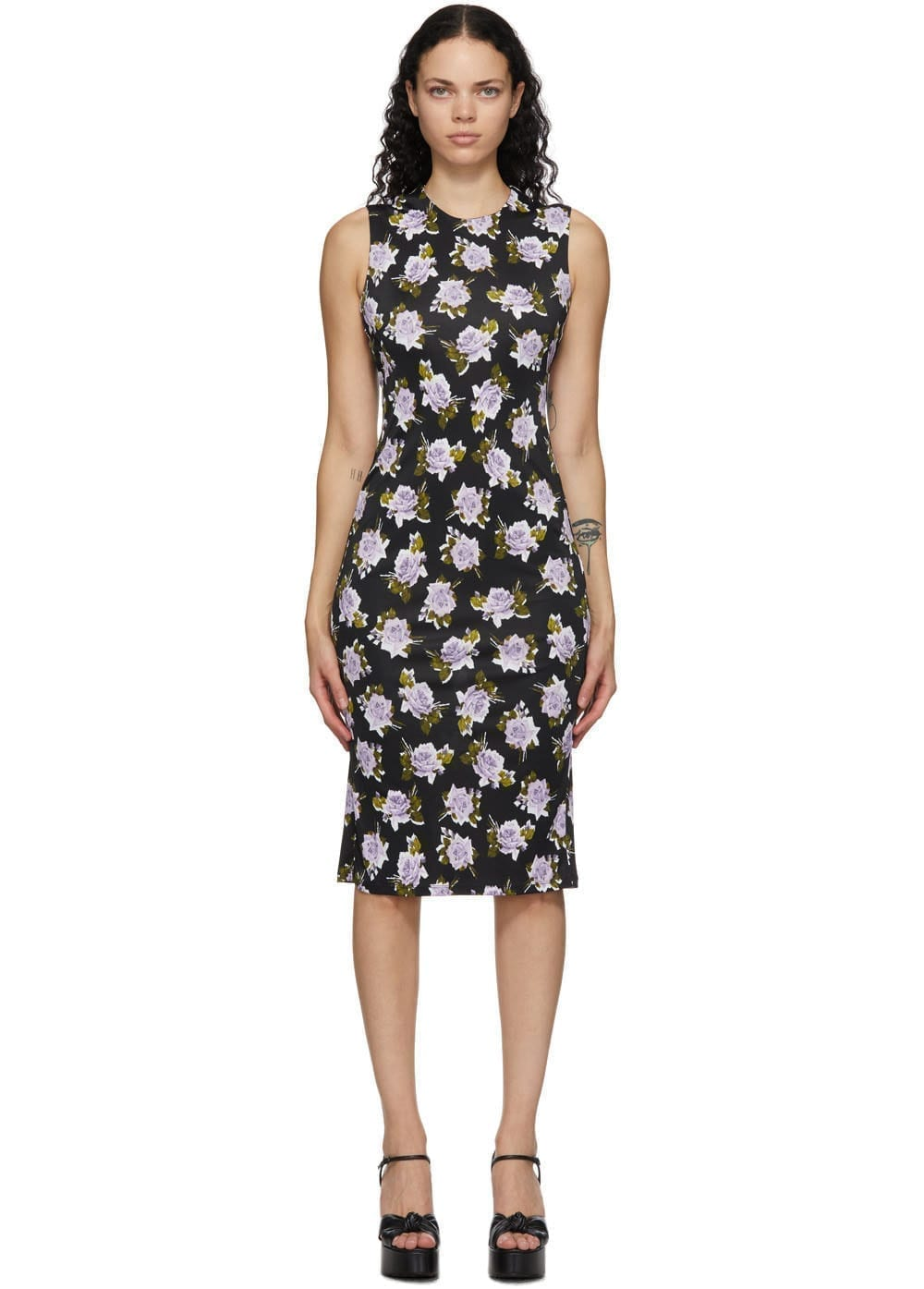 ERDEM Black Clarys Dress