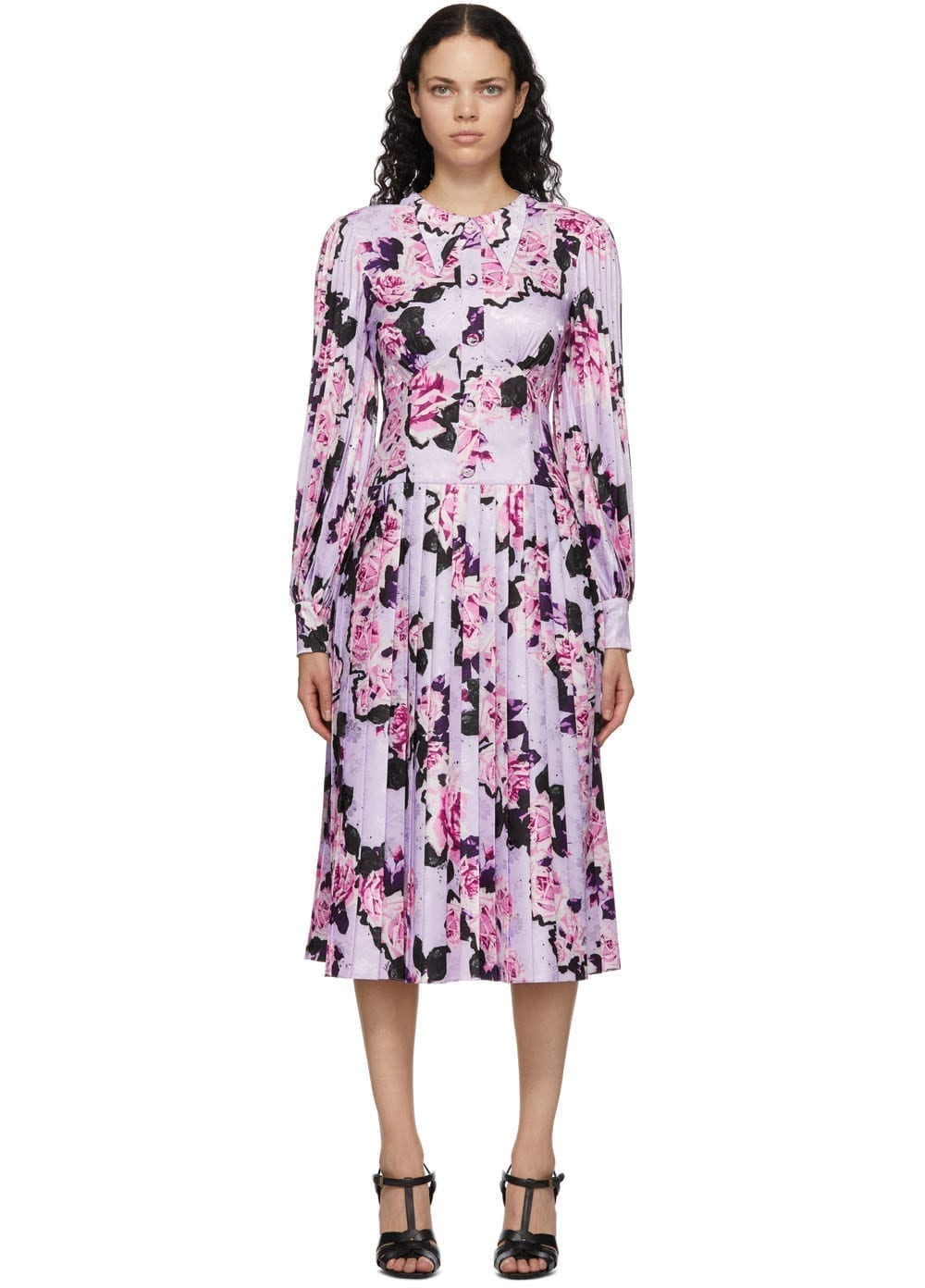 ERDEM Purple Venner Dress