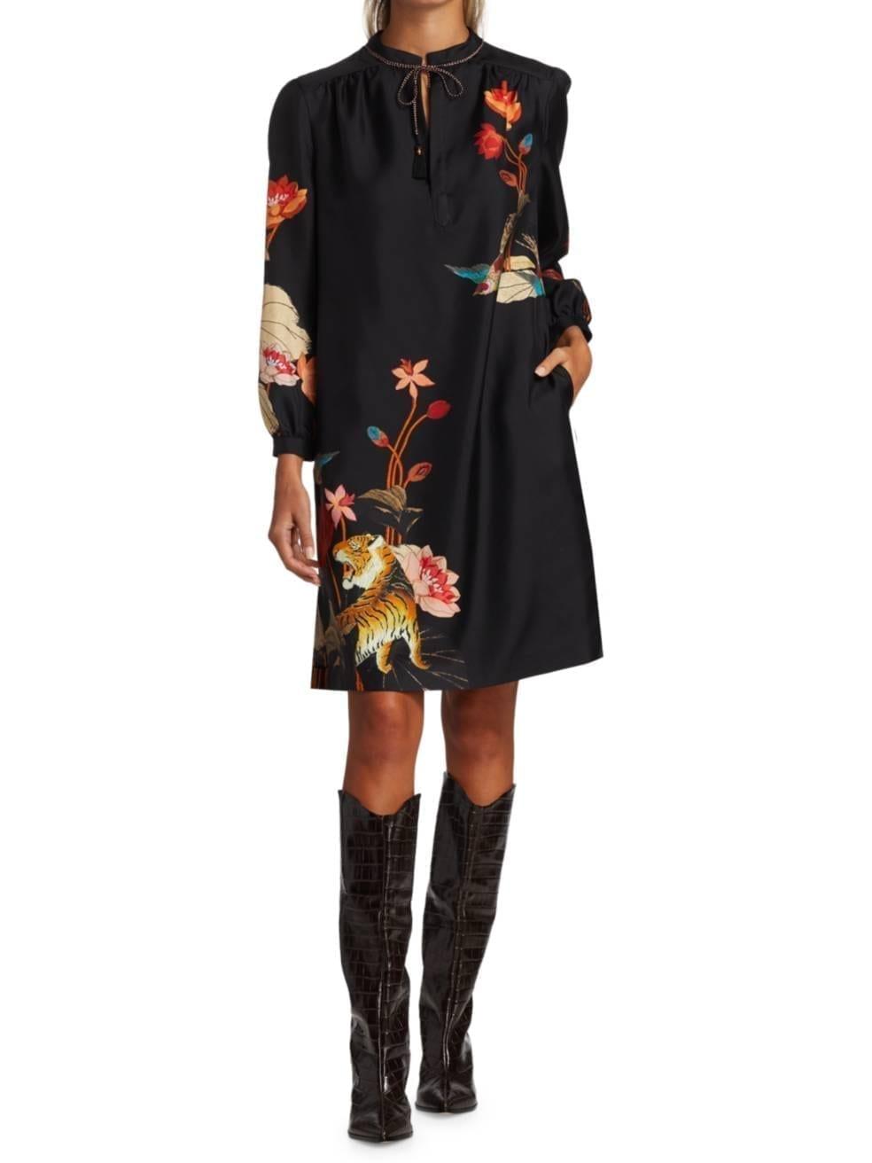 ETRO Floral Silk Shift Dress