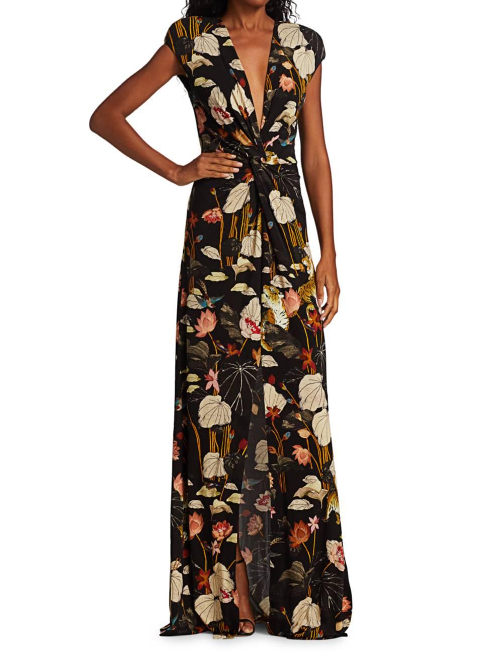 ETRO Lungo Pothia Floral Jersey Maxi Dress