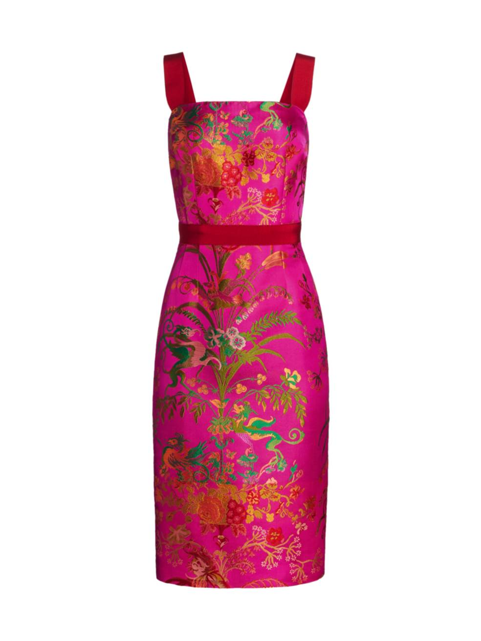 ETRO Sleeveless Floral Jacquard Dress