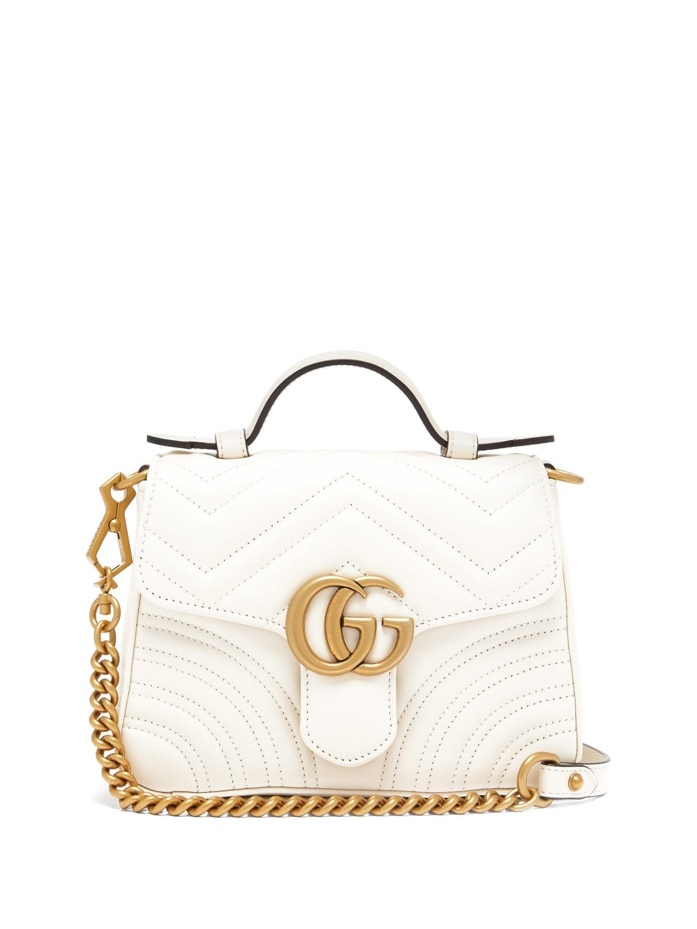 GUCCI GG Marmont Small Quilted-leather Cross-body Bag