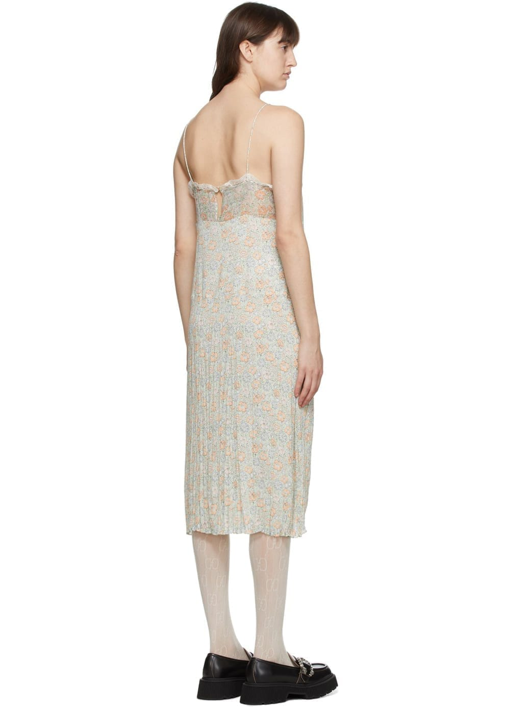 GUCCI Green Liberty London Edition Floral Slip Dress
