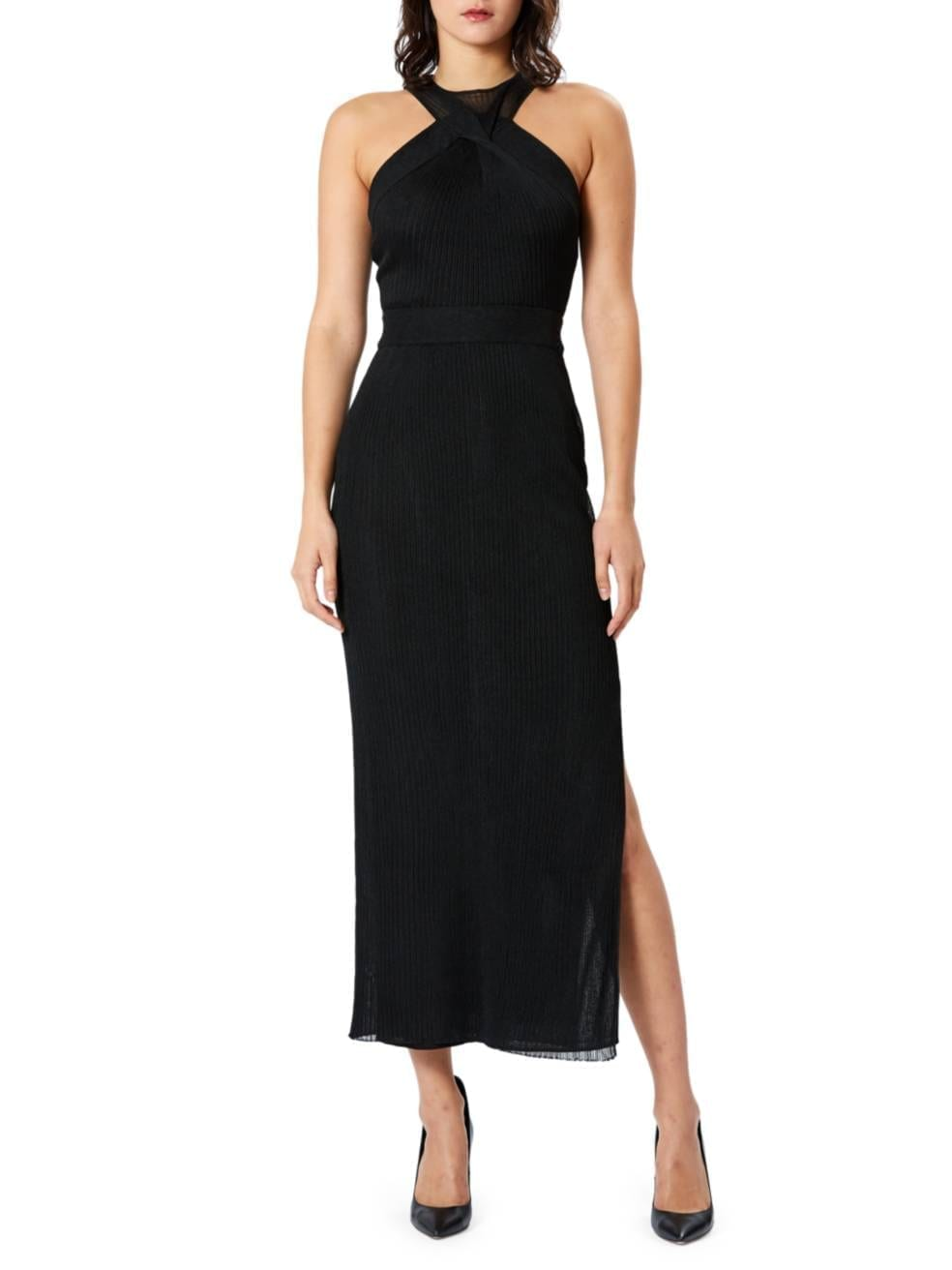 HERVE LEGER Twisted Drape Knit Gown