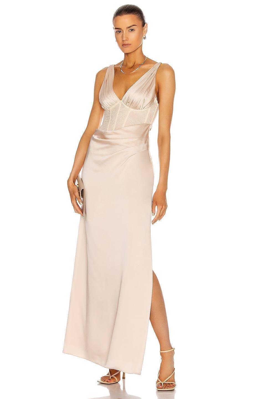 JONATHAN SIMKHAI Maeve Lace Wrap Dress
