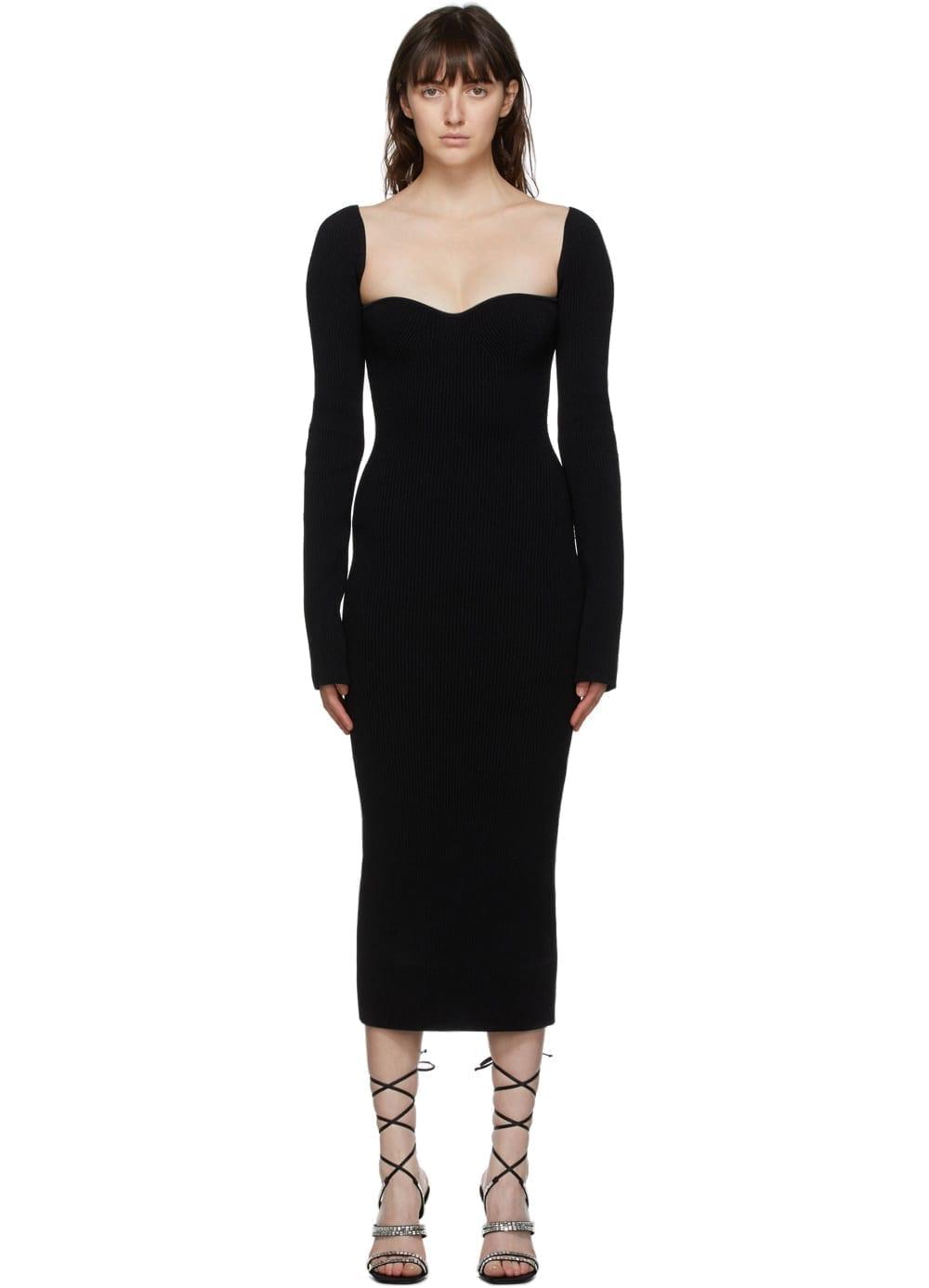 KHAITE Black Beth Dress