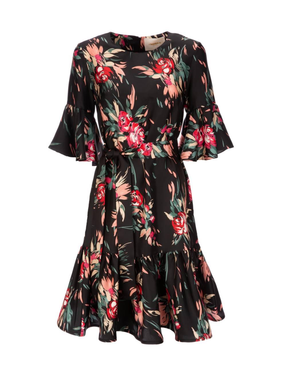 LA DOUBLEJ Short Curly Swing Silk Dress