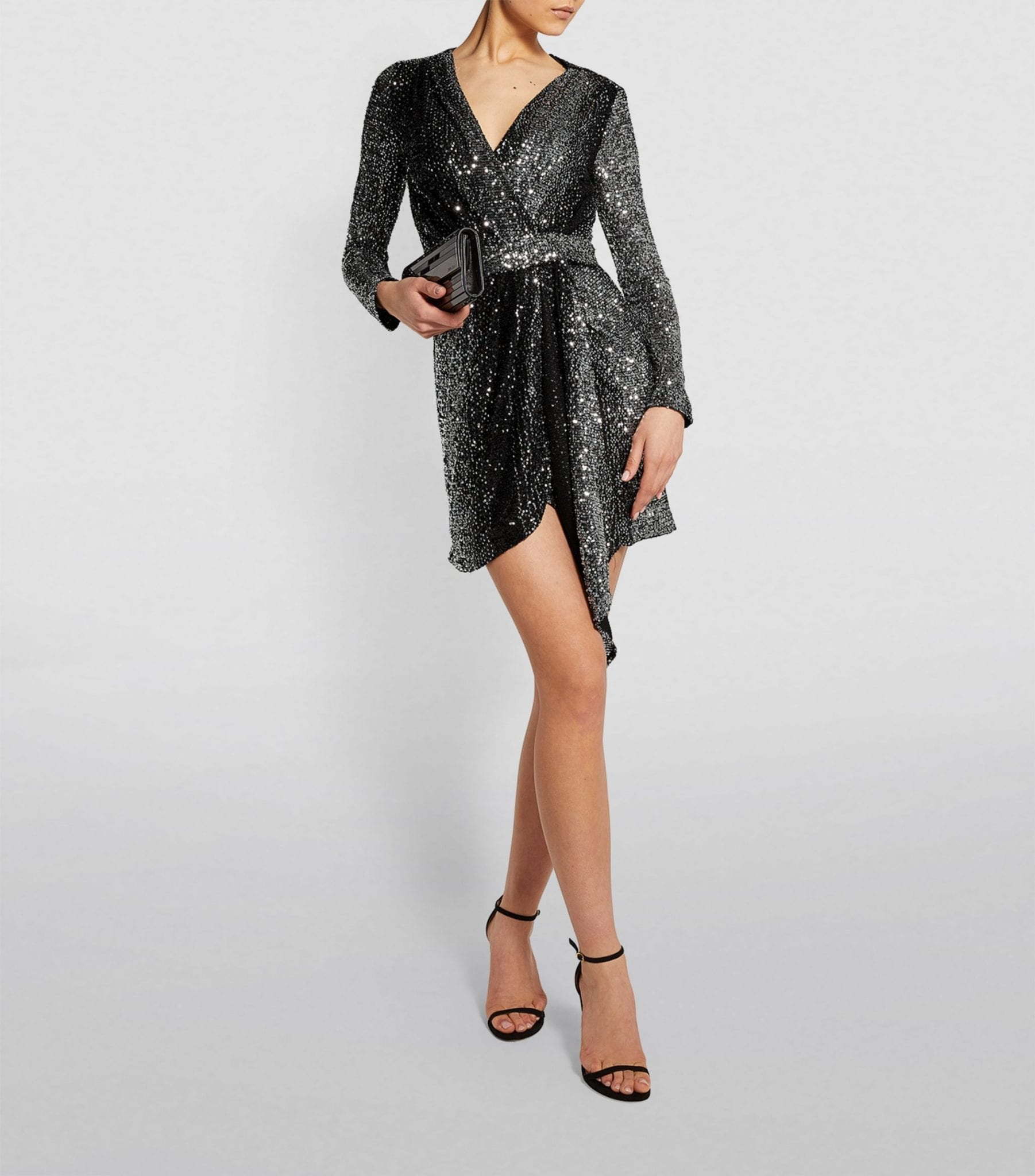 MAJE Two-Tone Sequin Dress