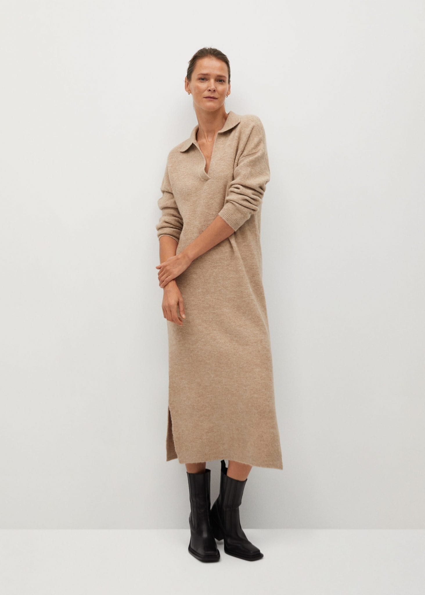 MANGO Jersey Shirt Dress