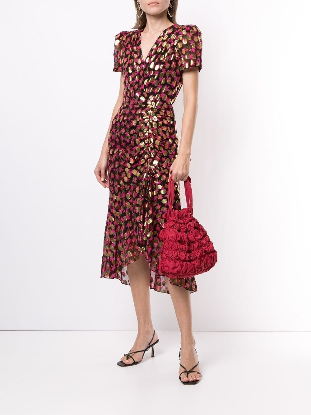 MILLY Gynn Floral Lurex Dress