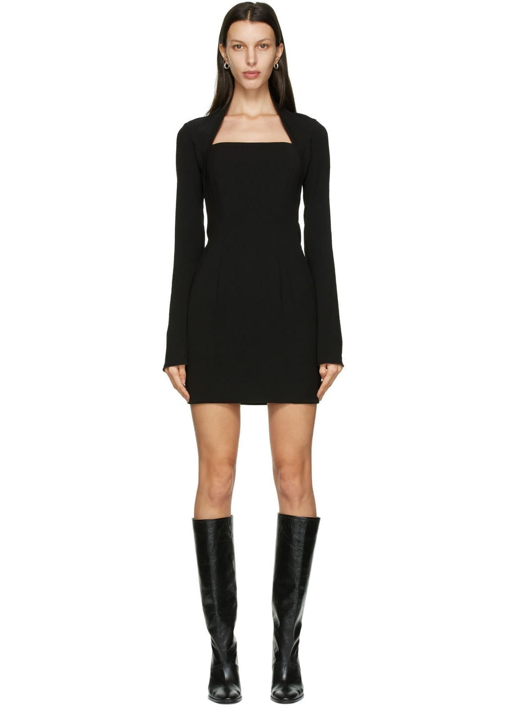 NANUSHKA Black Maria Dress