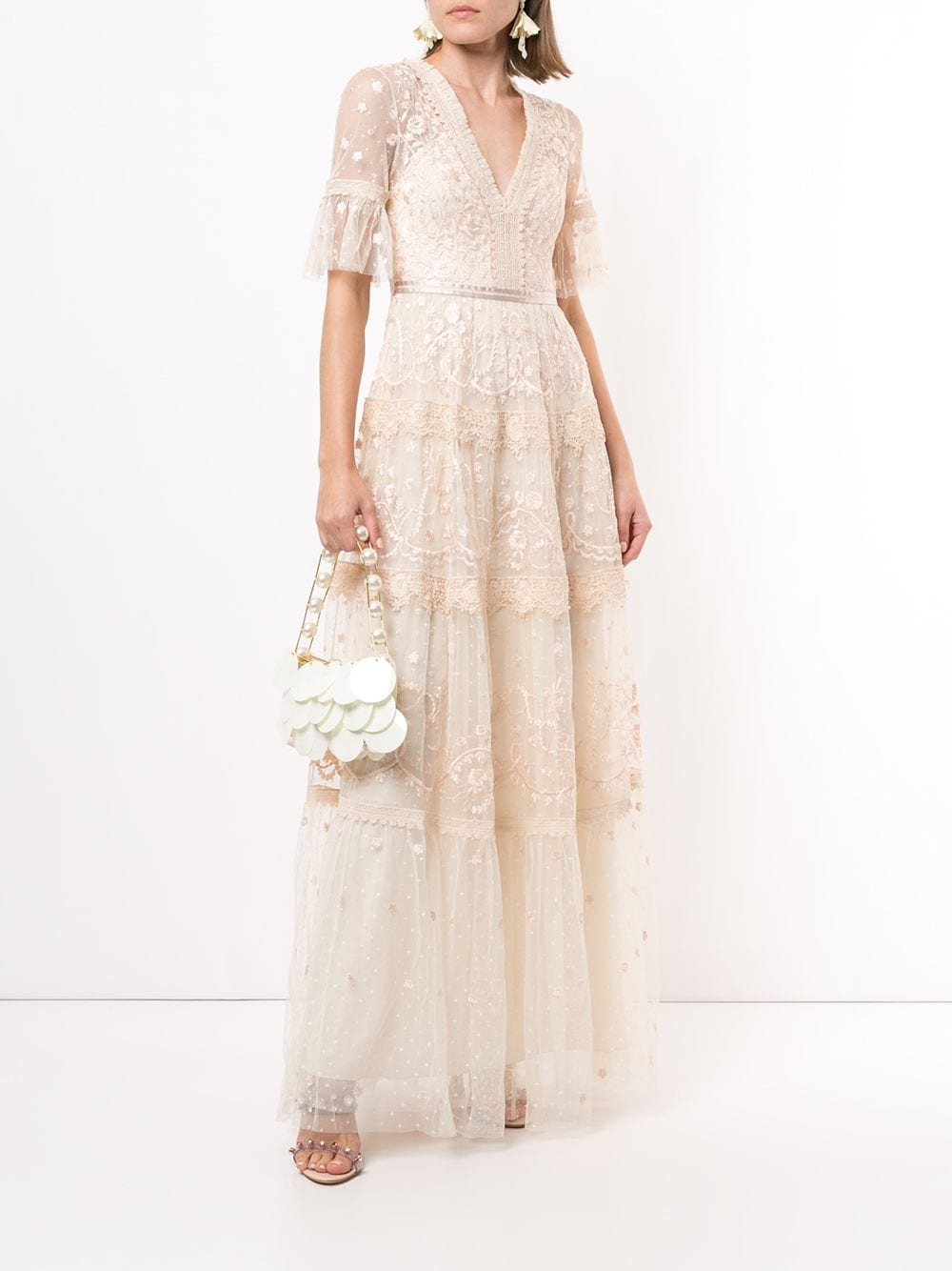 NEEDLE & THREAD Midsummer Floral Lace Gown